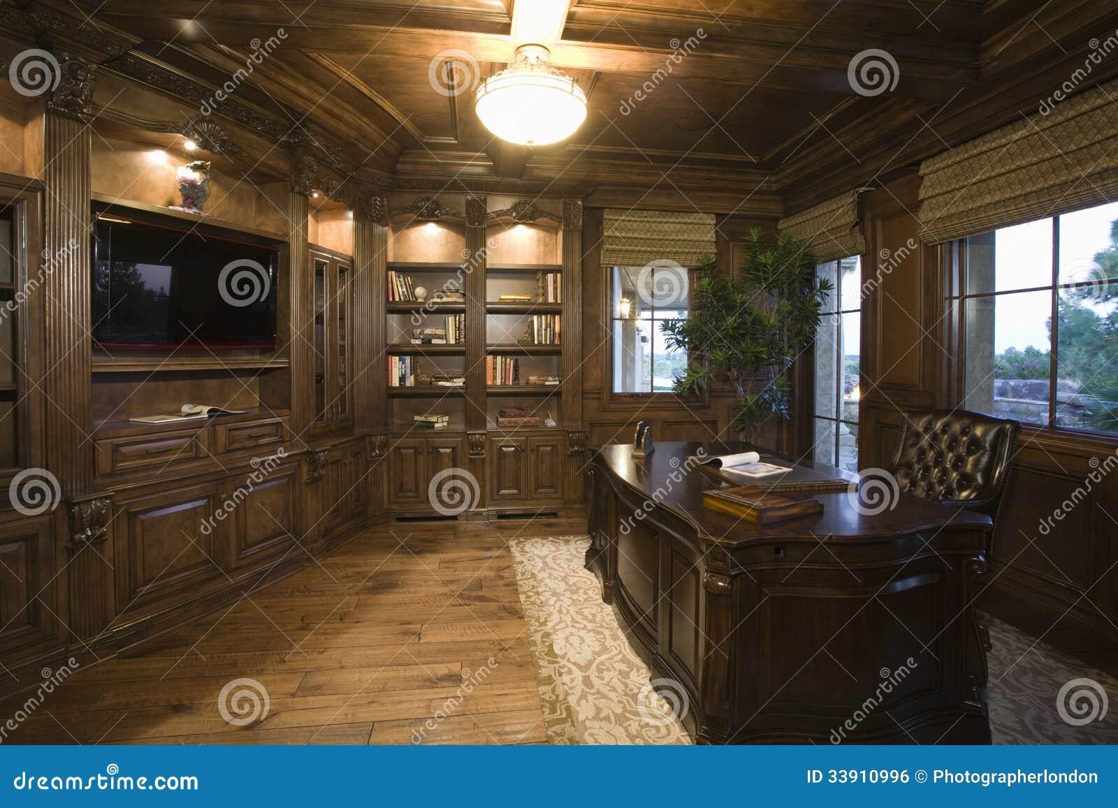 Stanza Studio In Casa stanza di studio moderna di lit a casa fotografia stock