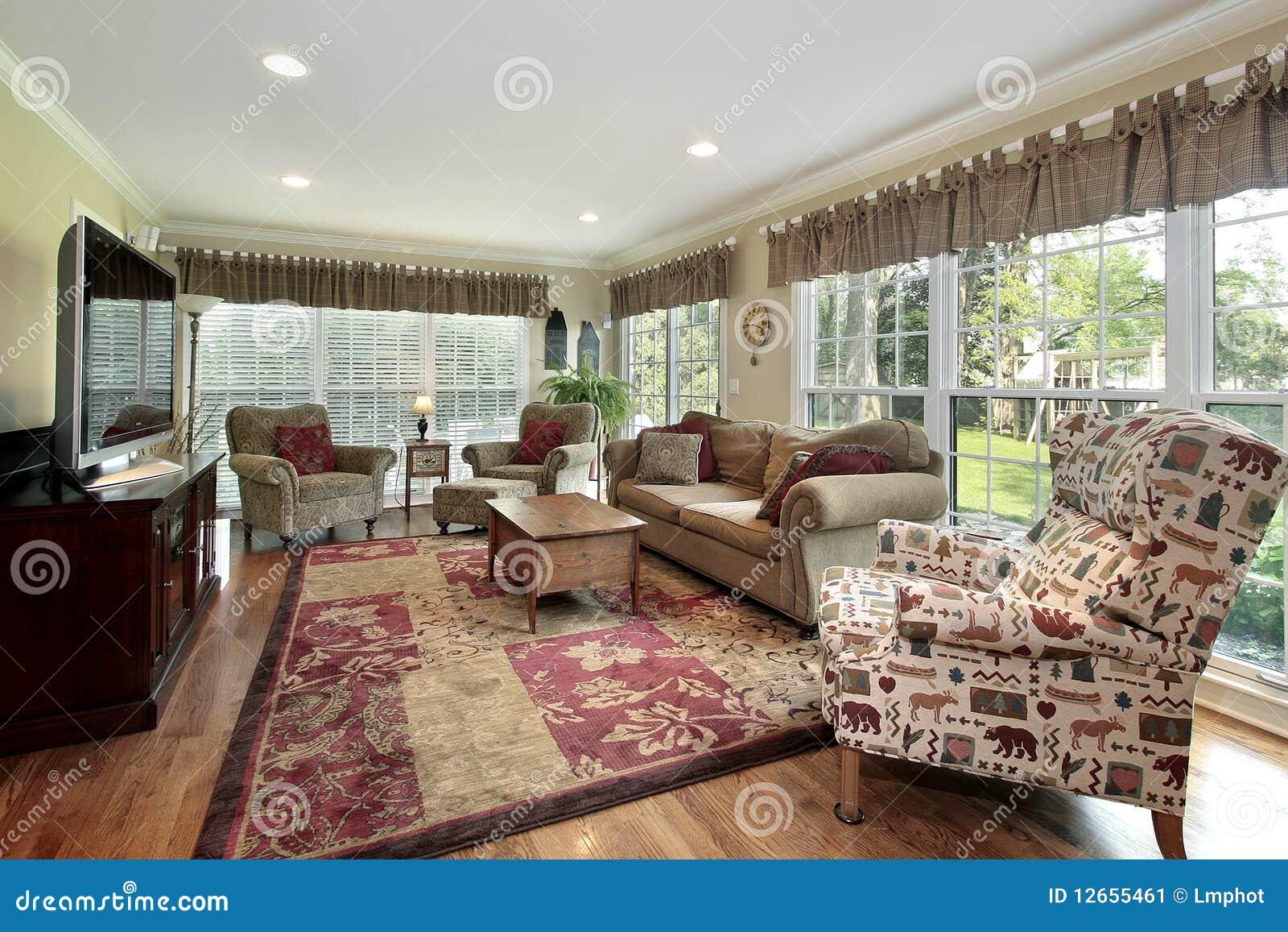 Stanza Di Sun Nella Casa Di Lusso Immagine Stock - Immagine: 12655461