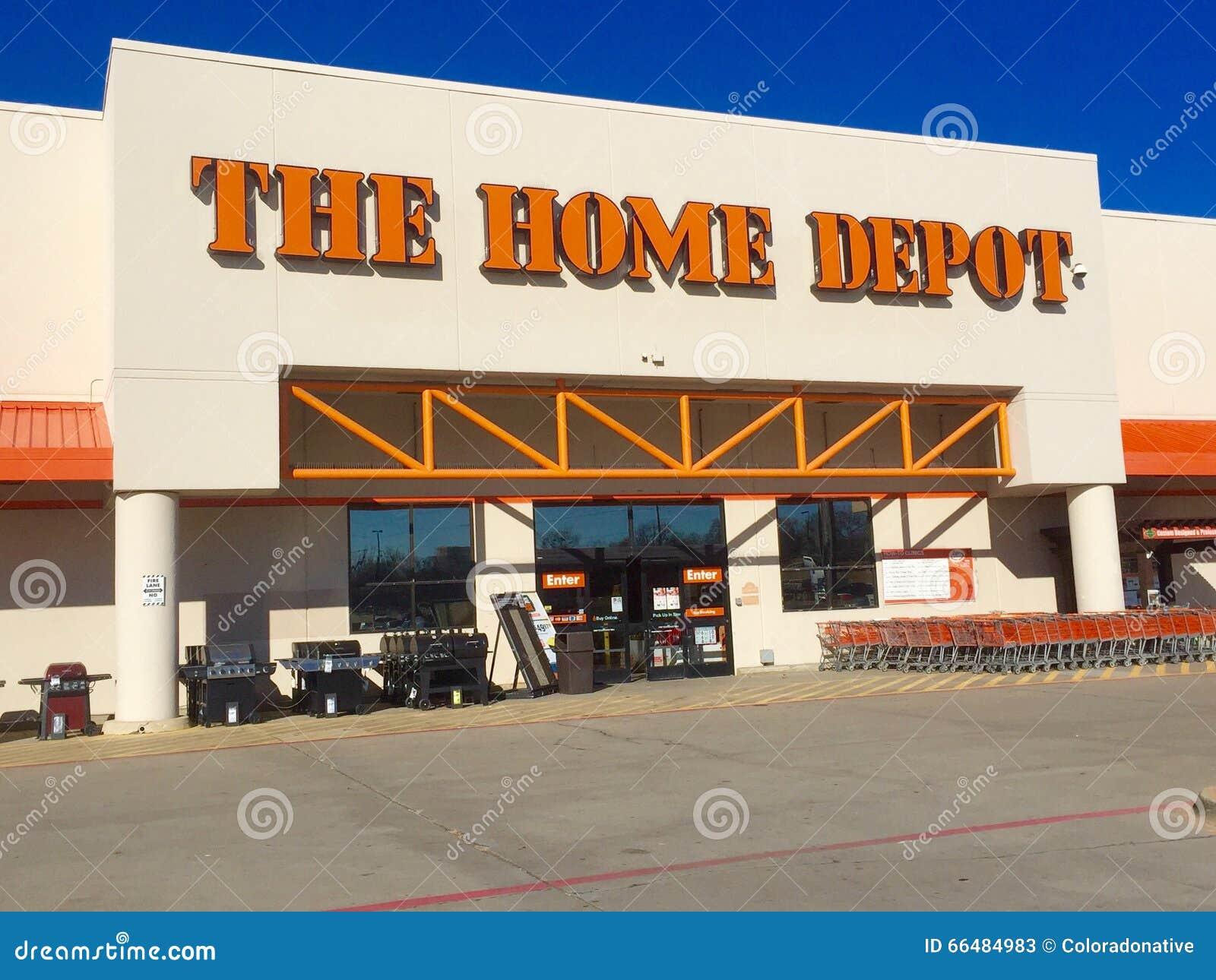 Stanza frontale di negozio di Home Depot
