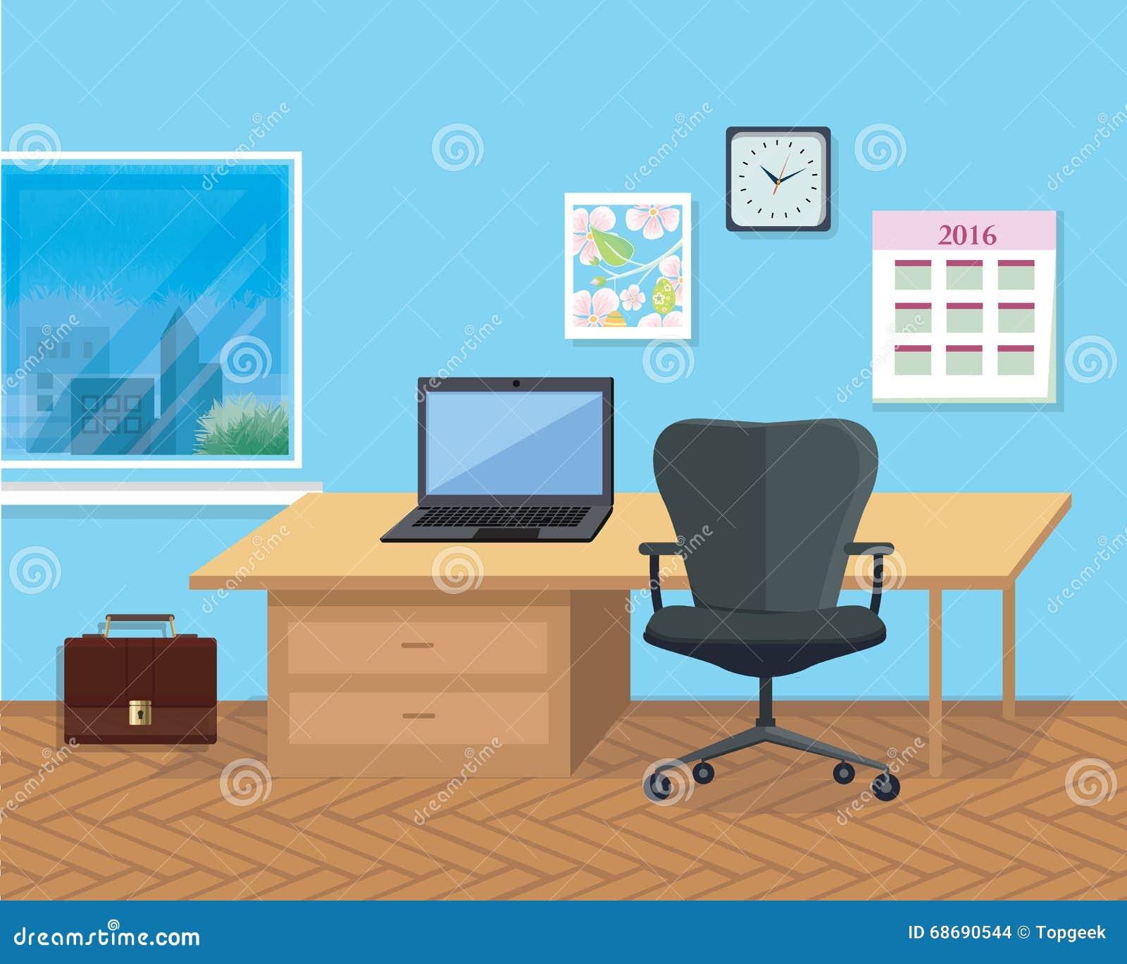 Stanza interna dell 39 ufficio illustrazione per il disegno for Disegno stanza