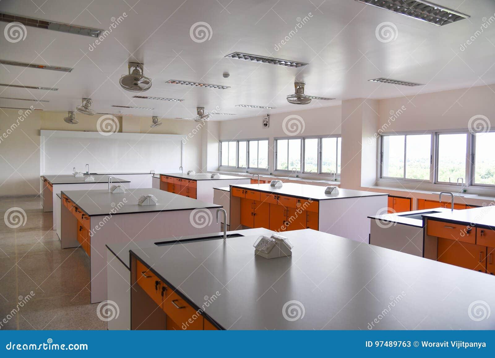 Stanza interna di scienza del laboratorio