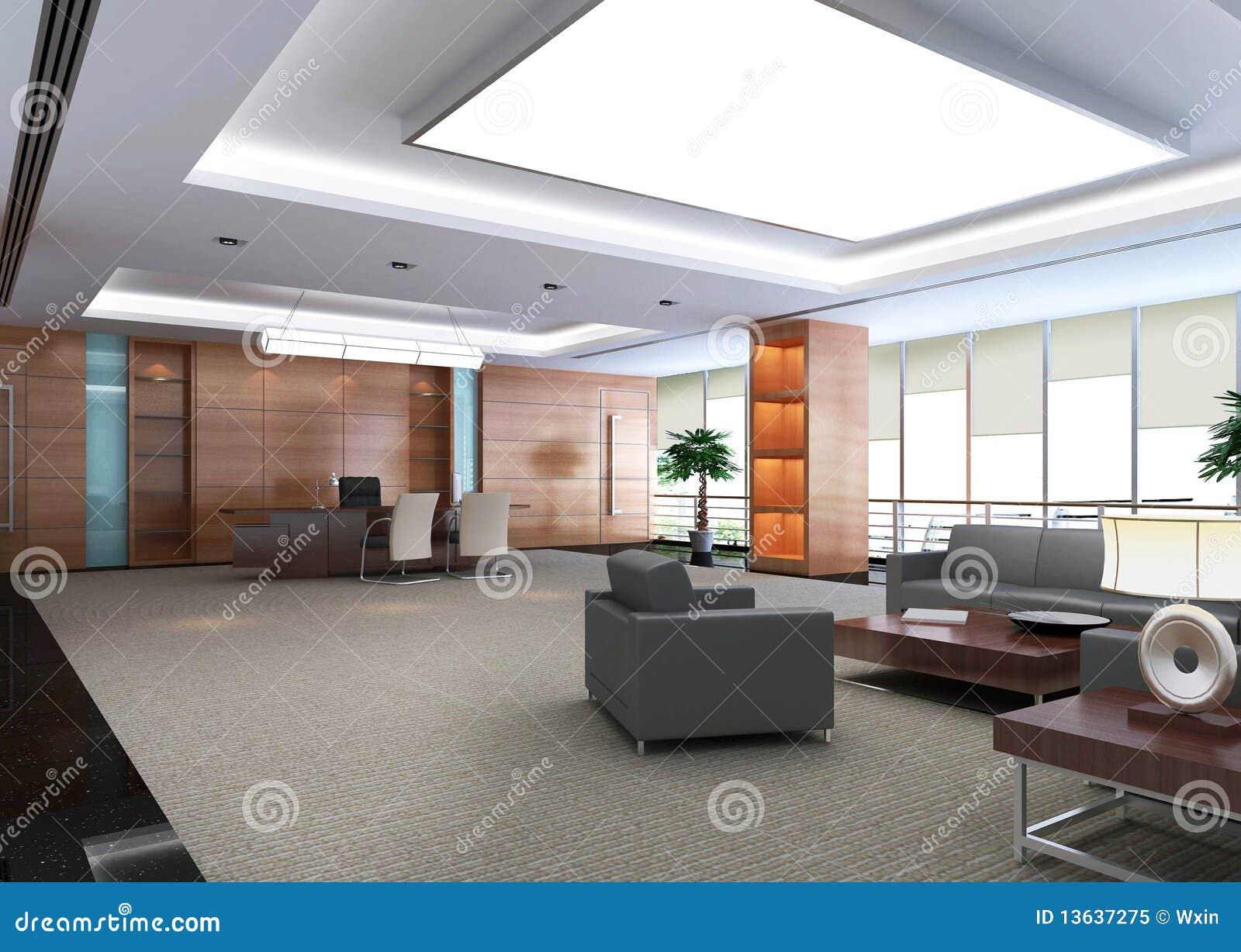 Stanza moderna dell 39 ufficio 3d illustrazione di stock for Stanza uso ufficio