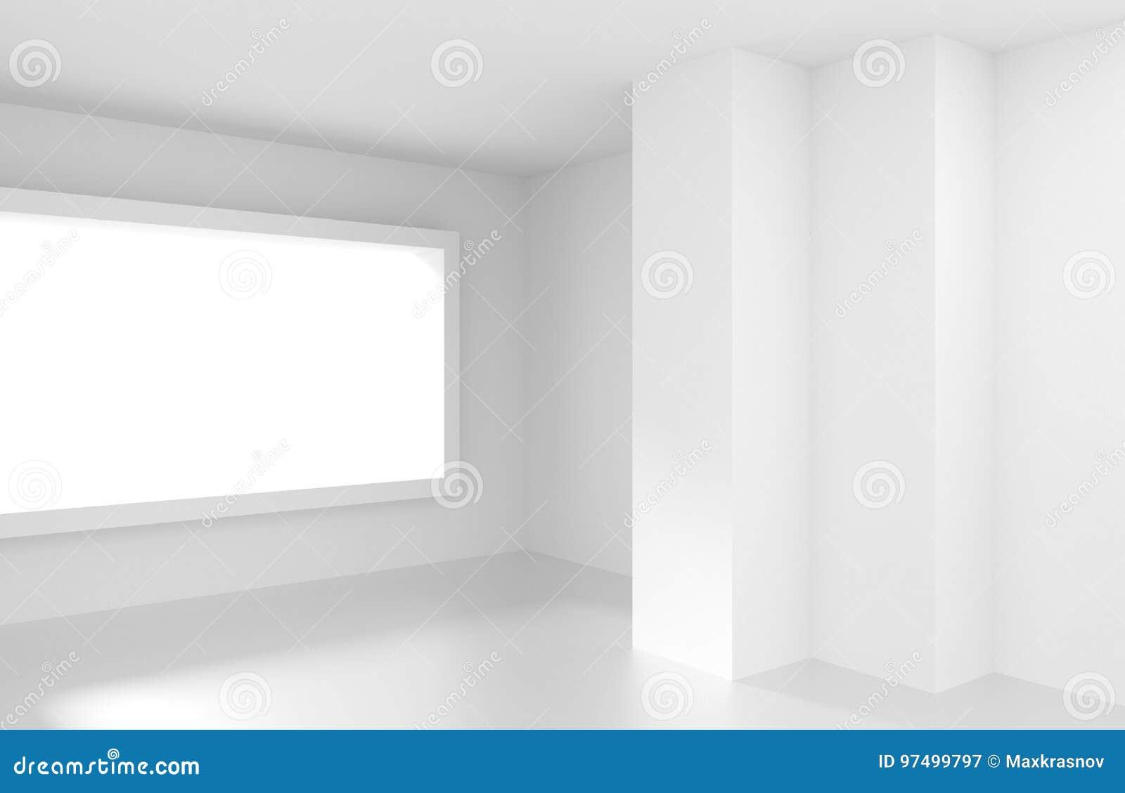 Stanza vuota bianca con la finestra Fondo interno moderno