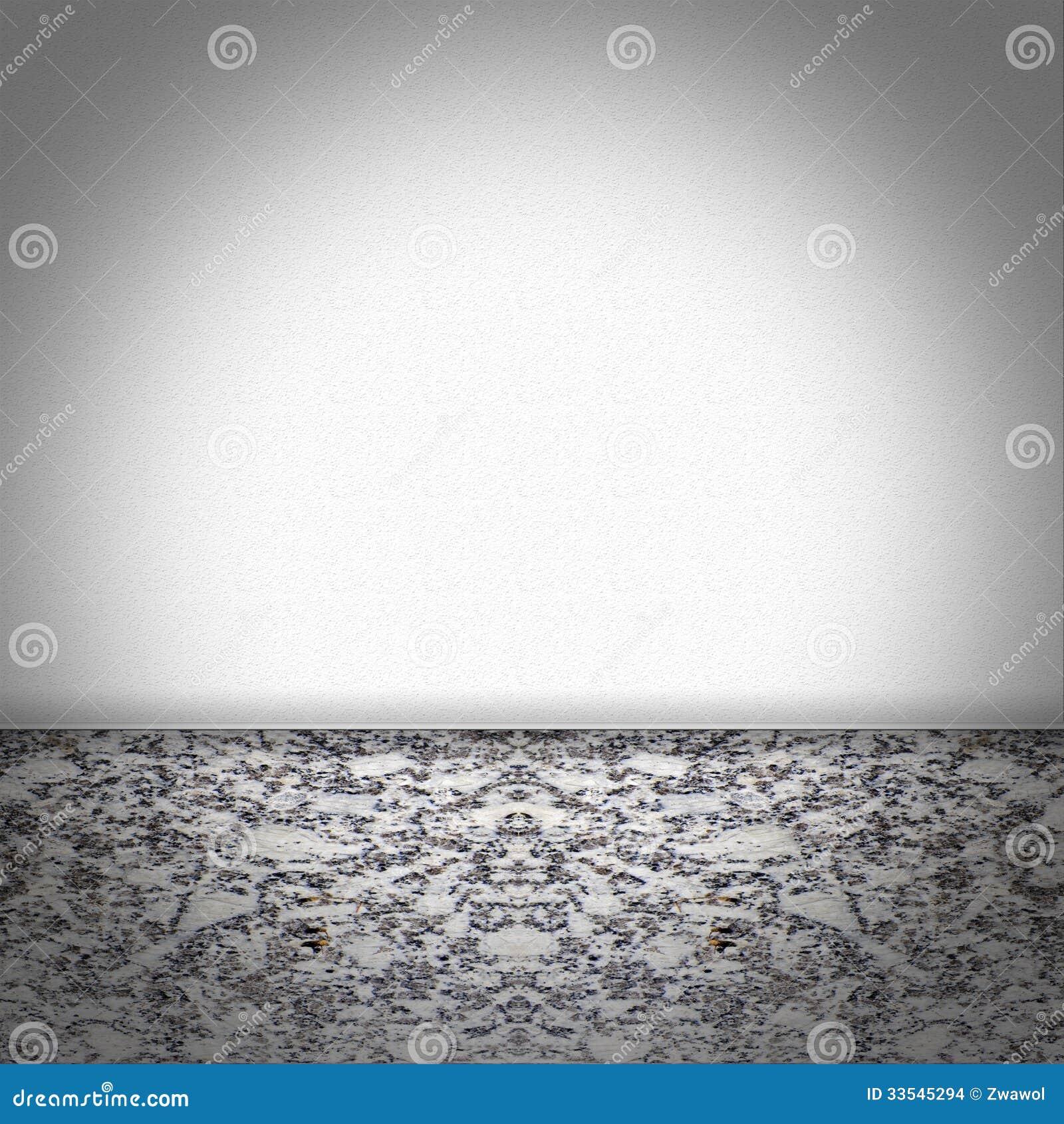 Stanza vuota con il pavimento di marmo in bianco e nero for Pavimento bianco e nero