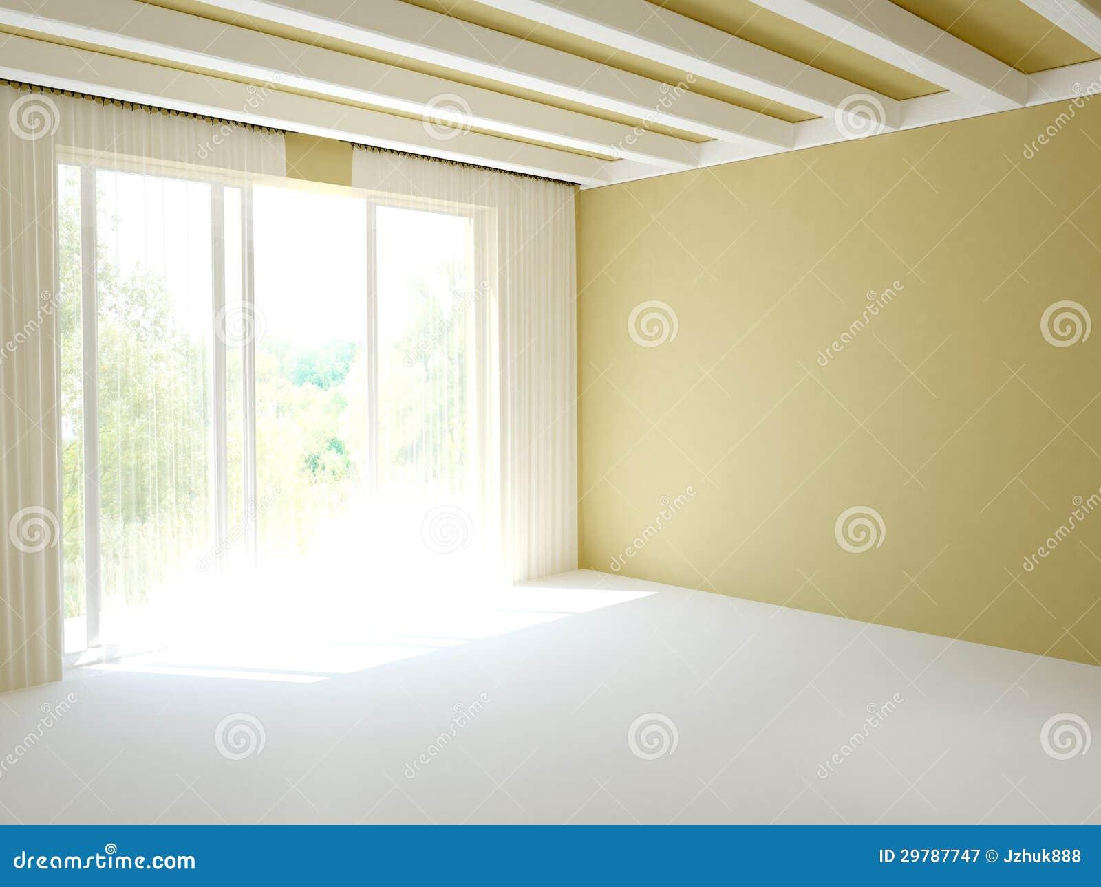 Stanza con la porta del balcone immagine stock immagine for Pilastri anteriori per la casa