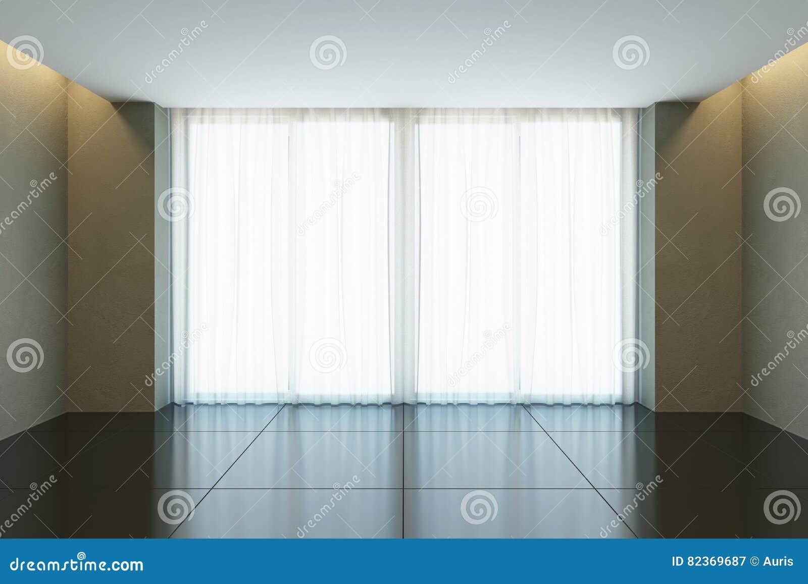 Stanza vuota dell 39 ufficio con la finestra immagine stock for Stanza uso ufficio