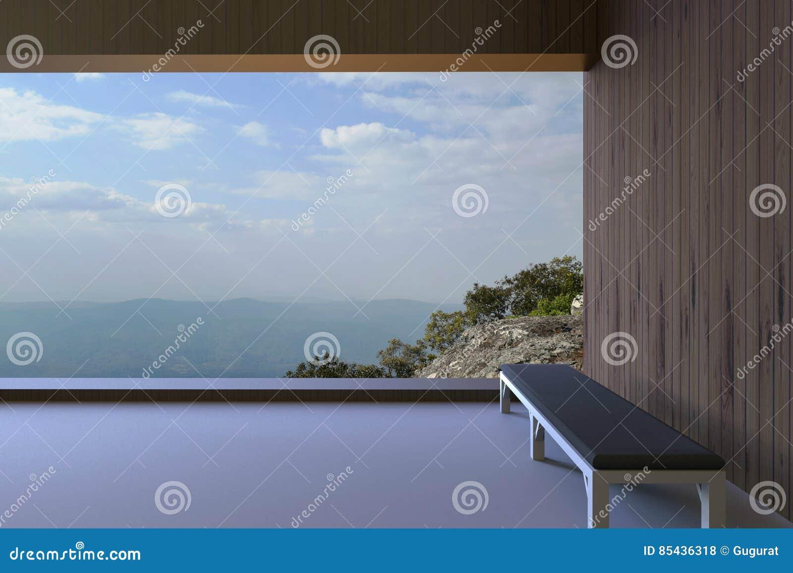 stanze moderne stanze moderne semplici e pareti di legno e una sedia