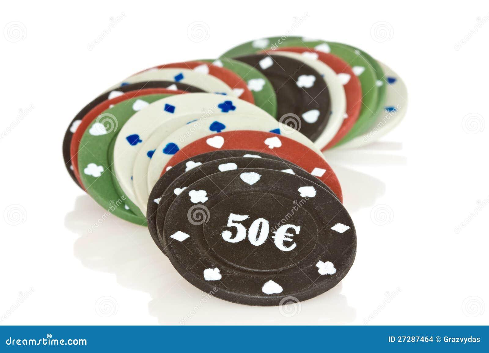 Stapel av pokerchiper