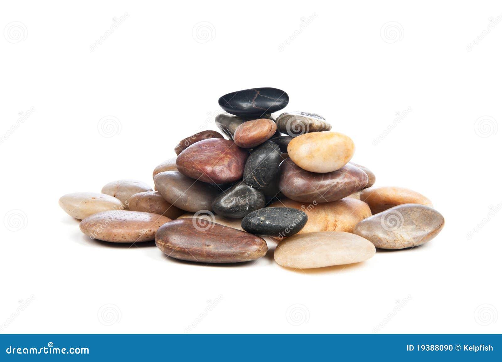 Stapel der glatten Steine