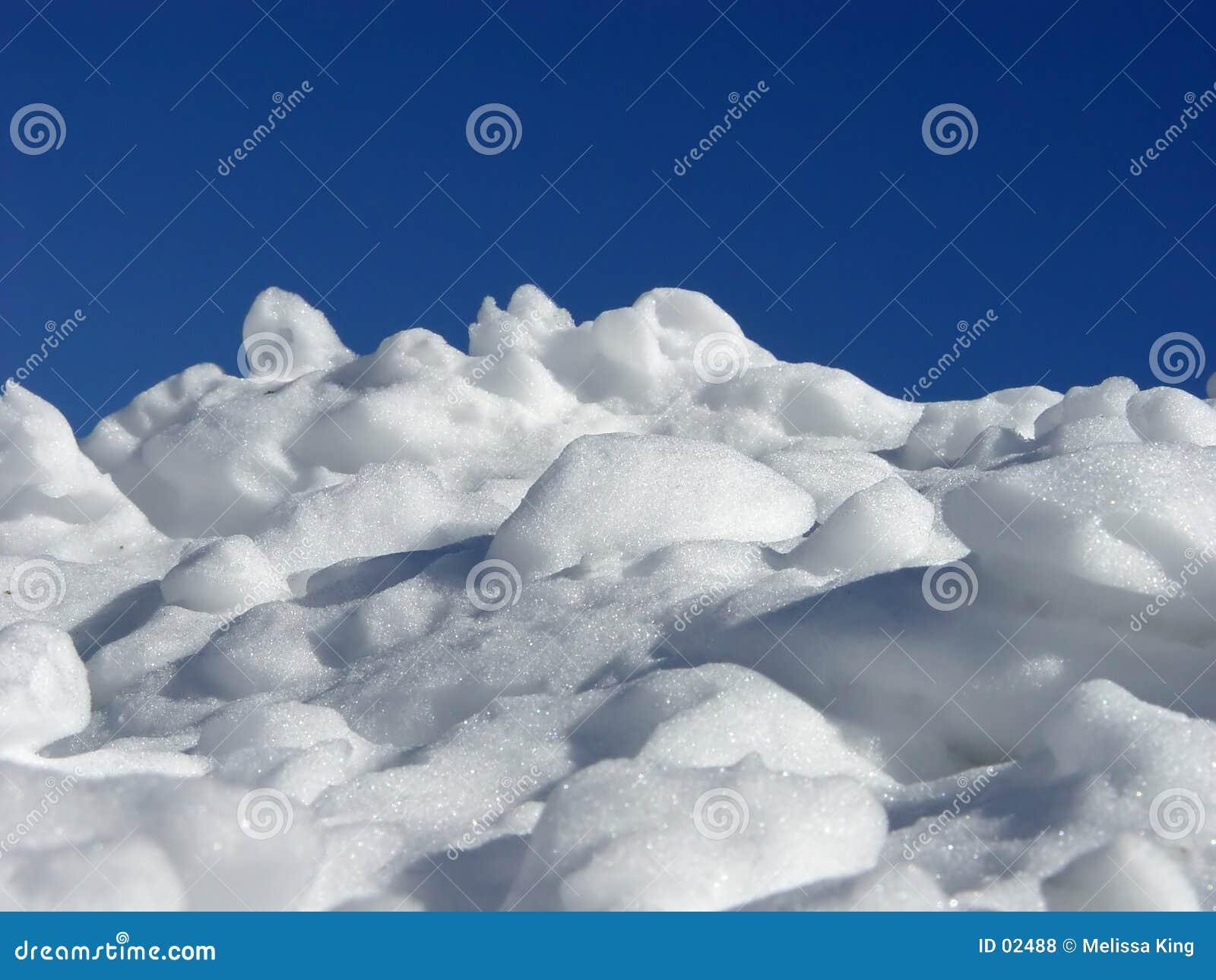 Stapel des Schnees