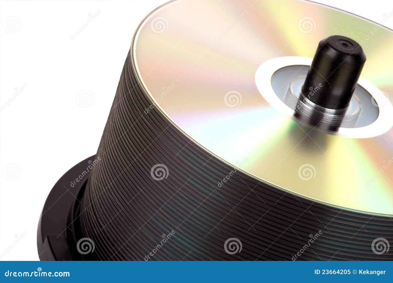Stapel DVD op as