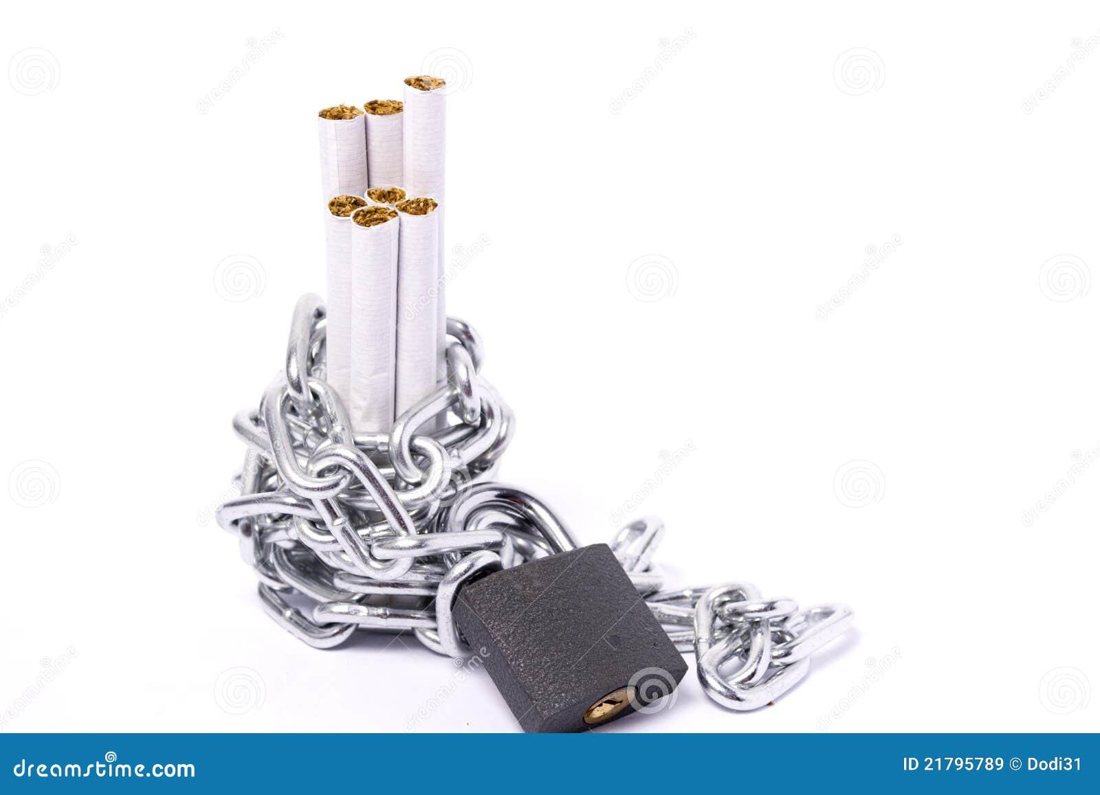 Stapel för kedjecigarettpadlocks