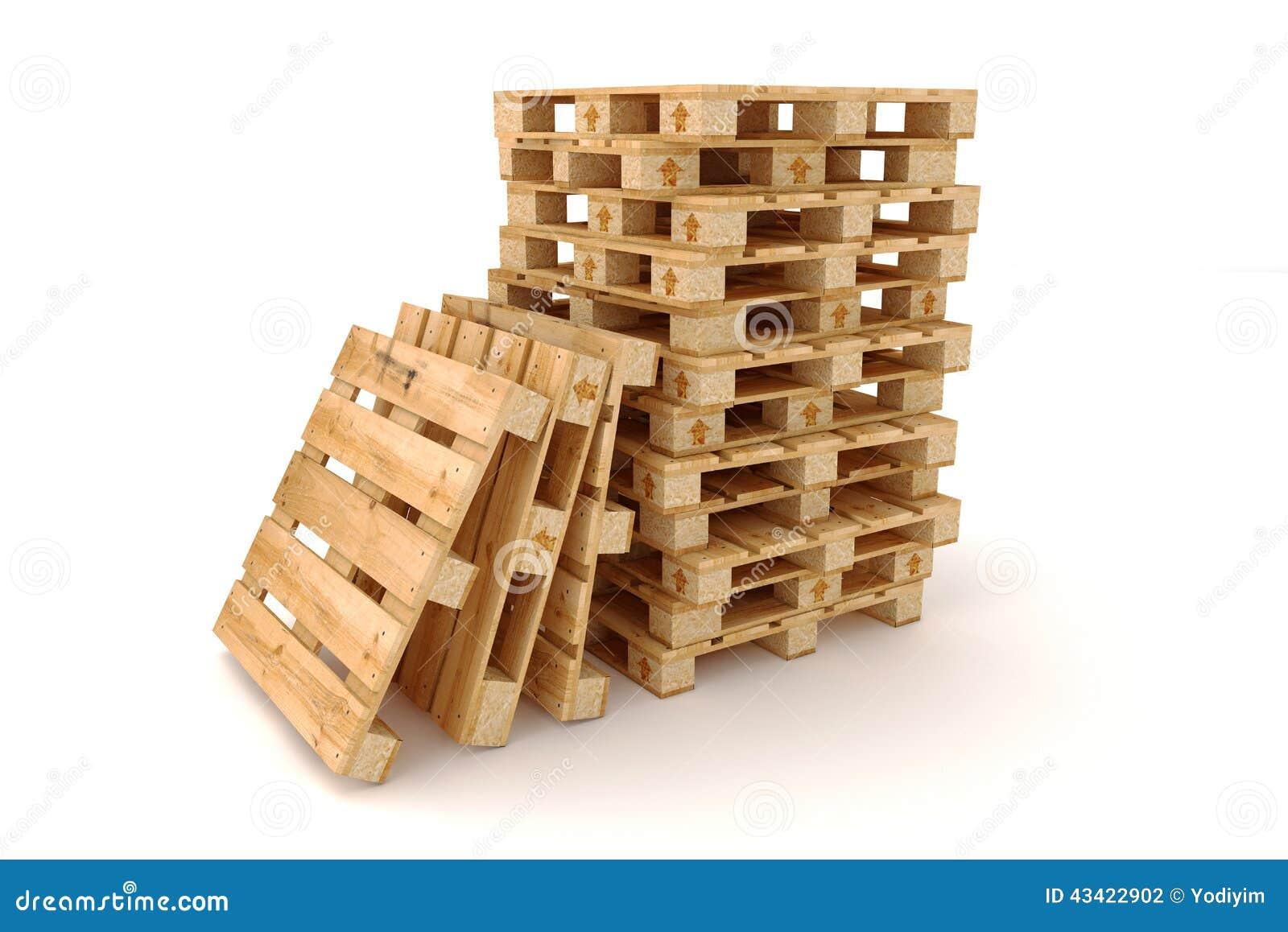 Stapel houten pallets stock foto afbeelding 43422902 - Foto houten pallet ...