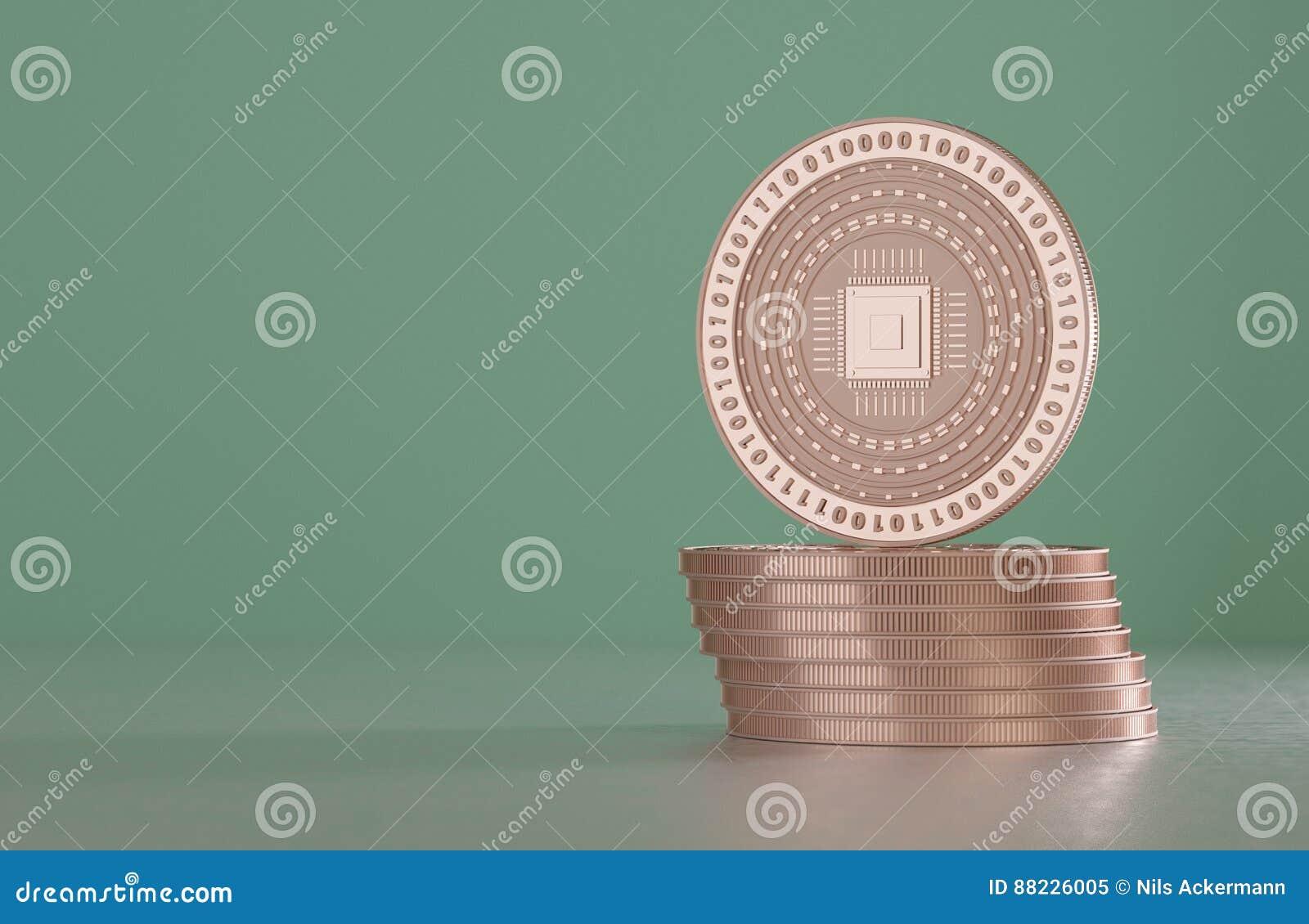 Fußboden Aus Kupfermünzen ~ Stapel kupfermünzen als beispiel für virtuelle schlüsselwährungs
