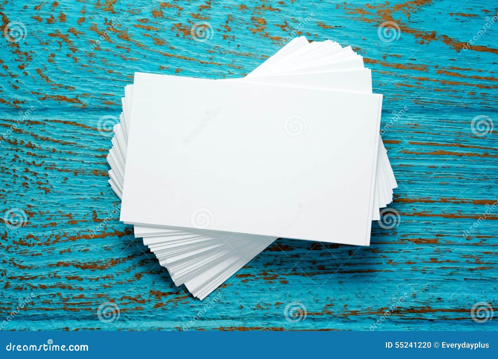 Stapel Leere Visitenkarten Stockfoto Bild Von Nantes 55241220