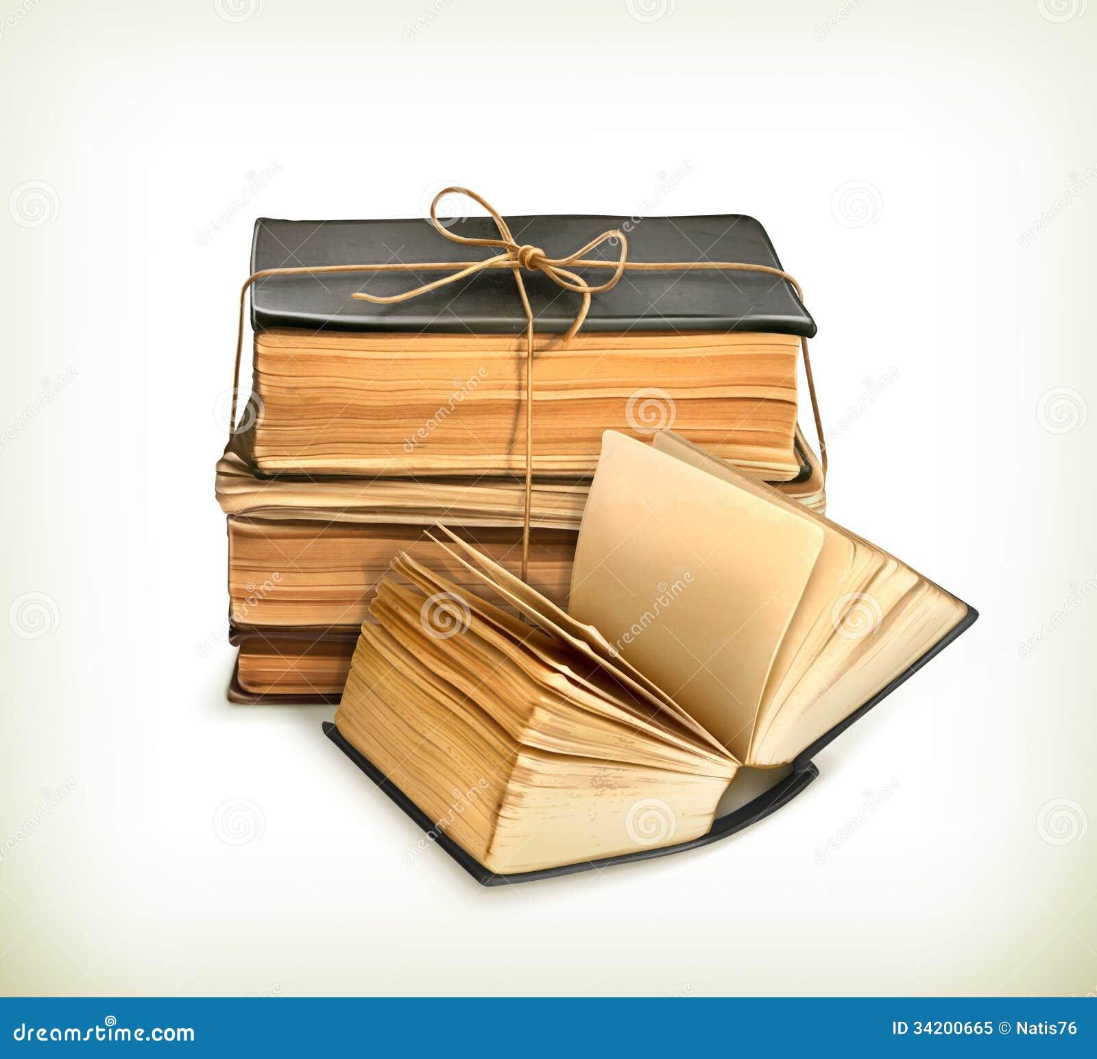 Book Cover Images Royalty Free ~ Stapel oude boeken vector illustratie