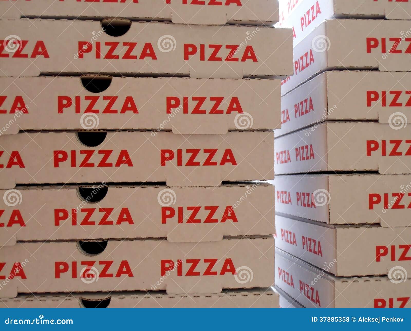 Stapel pizzadozen