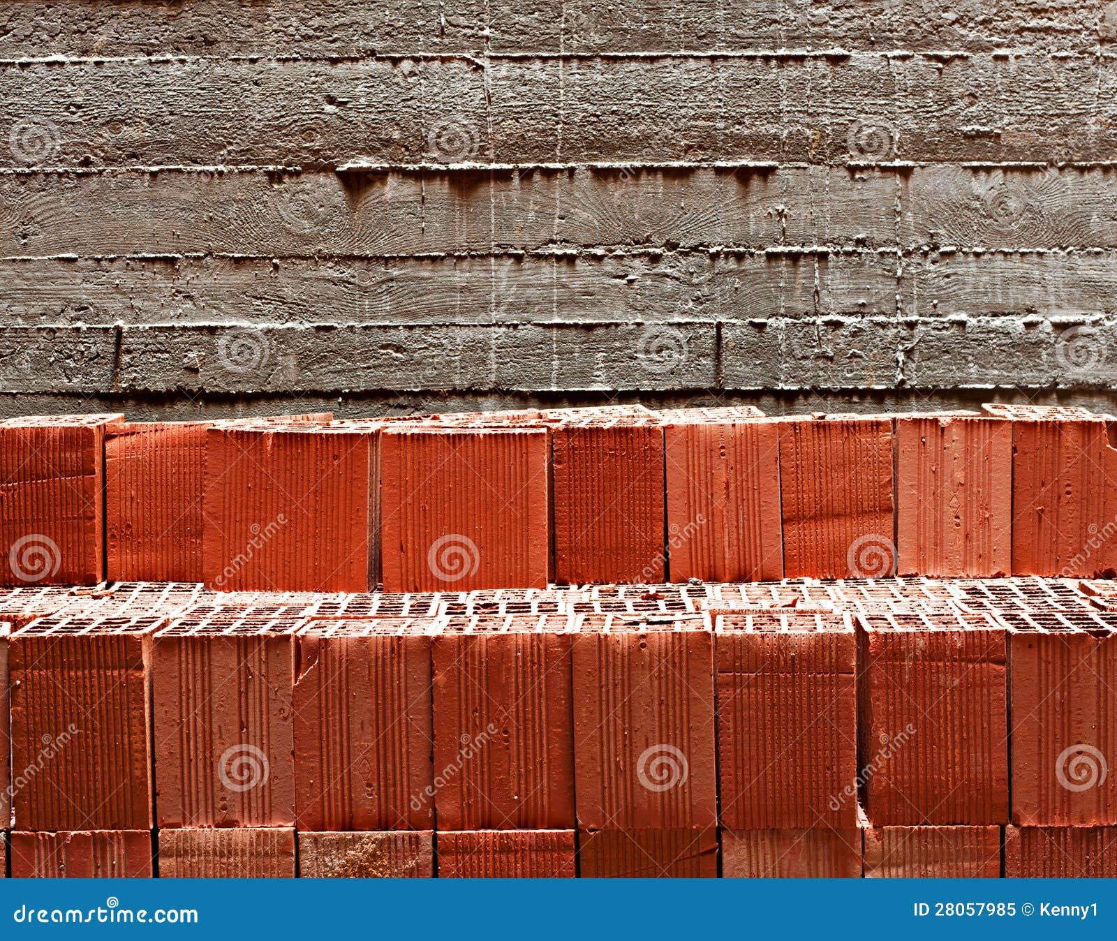 stapel rote bausteine stockbild bild von bl cke stapel 28057985