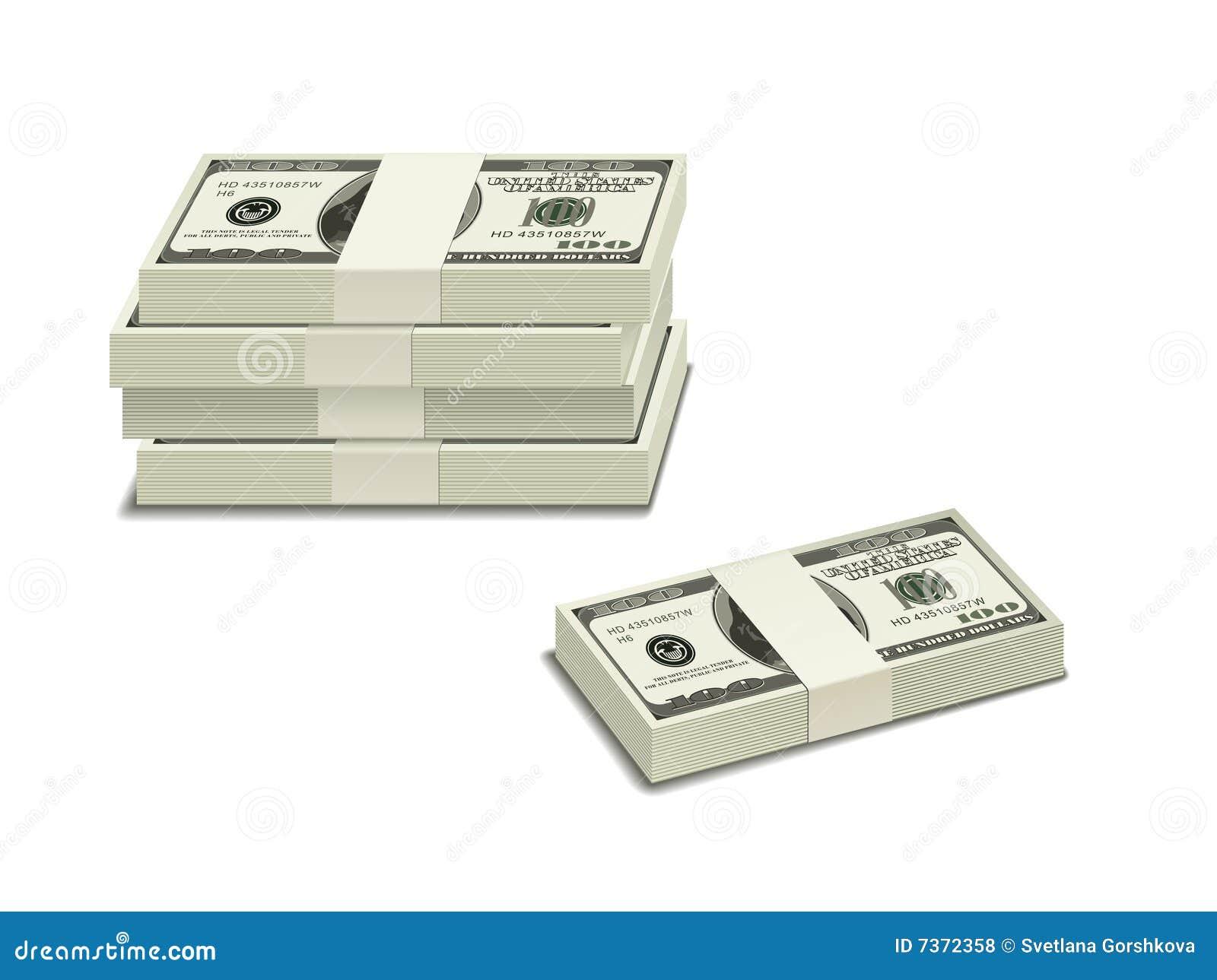 Stapel van $100 rekeningen