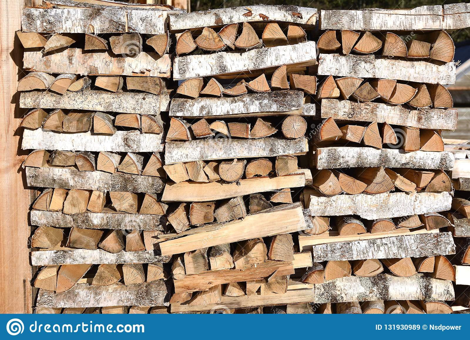 Stapel van brandhout