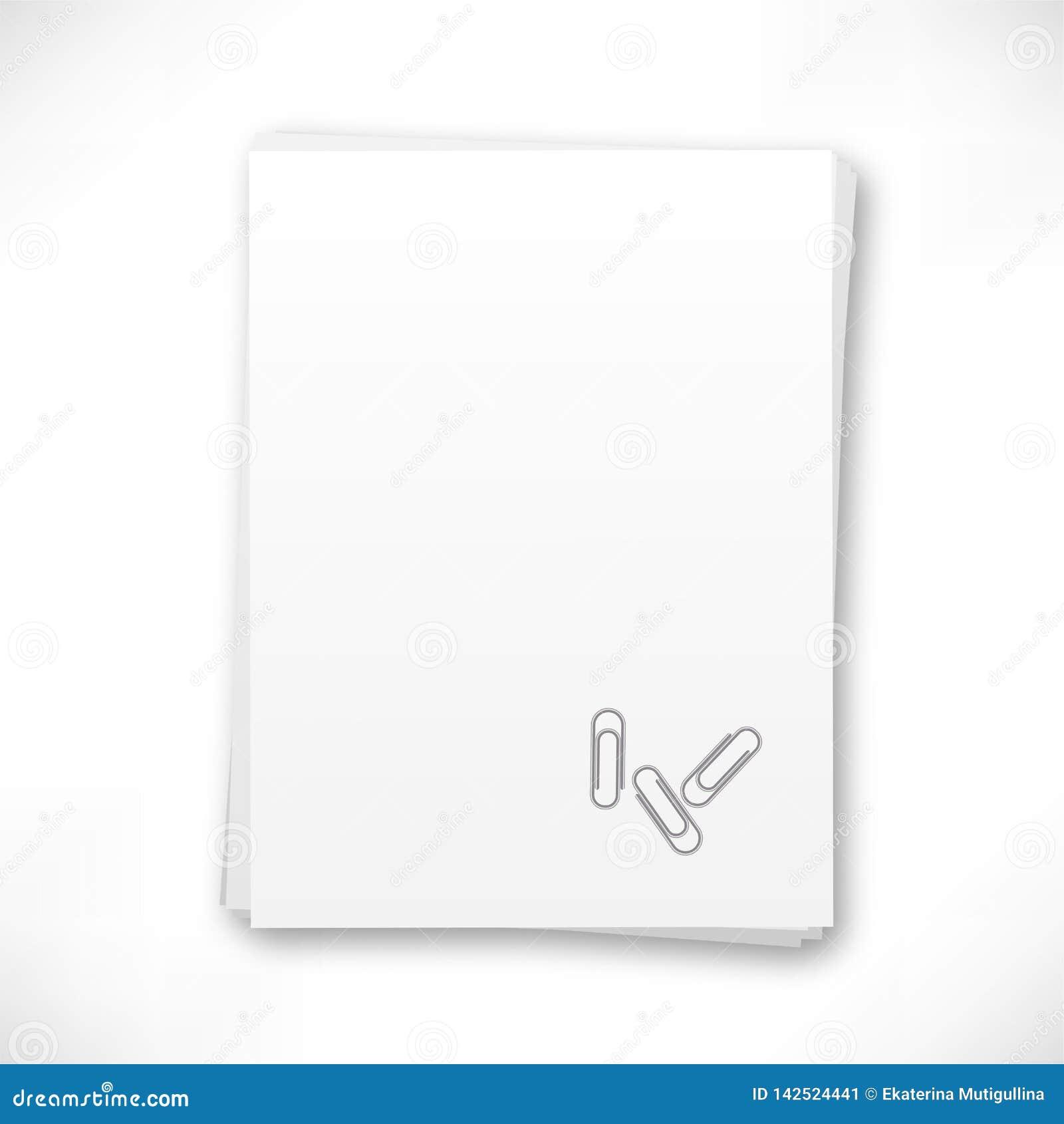 Stapel van document met klemmen