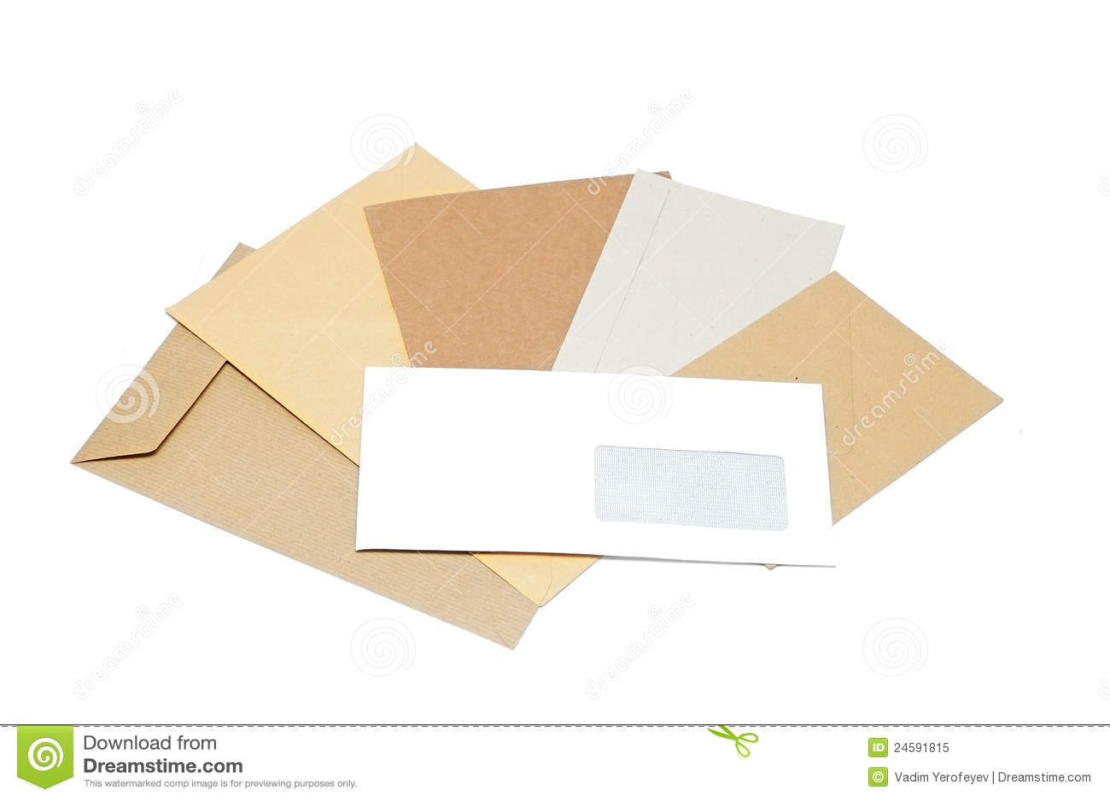 Stapel van enveloppen