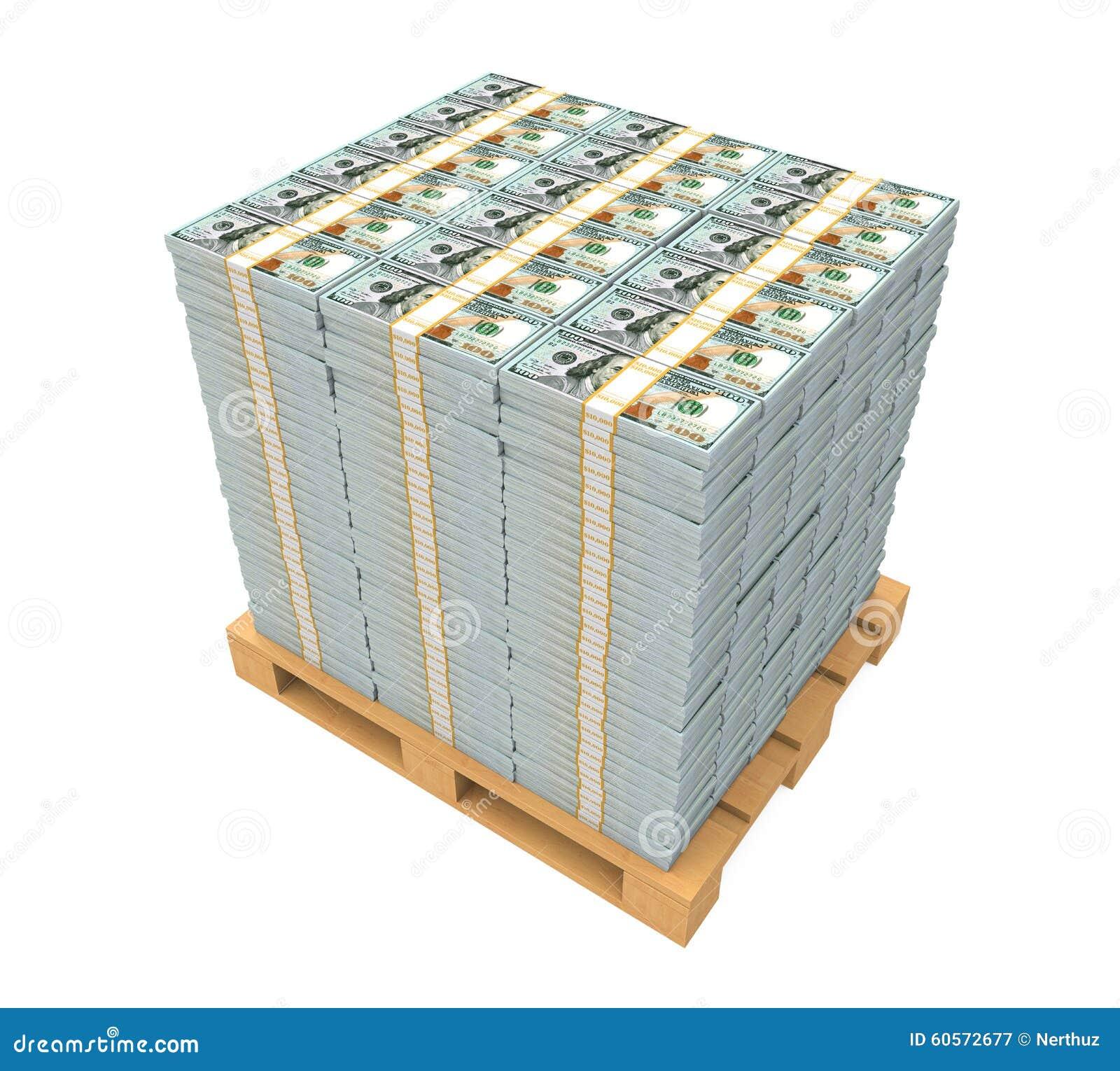 Stapel van geld met houten pallet stock afbeelding afbeelding 60572677 - Foto houten pallet ...