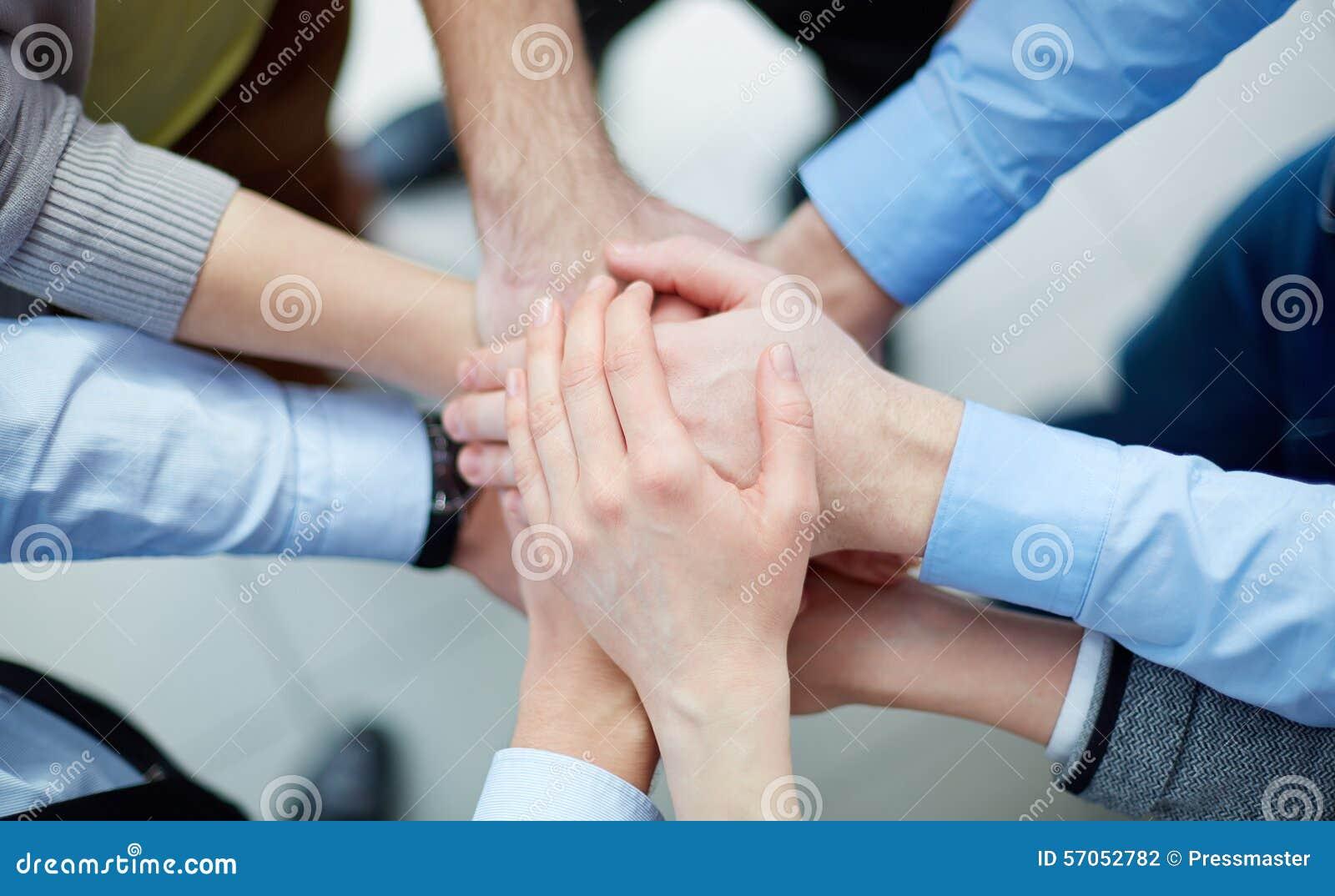 Stapel van handen