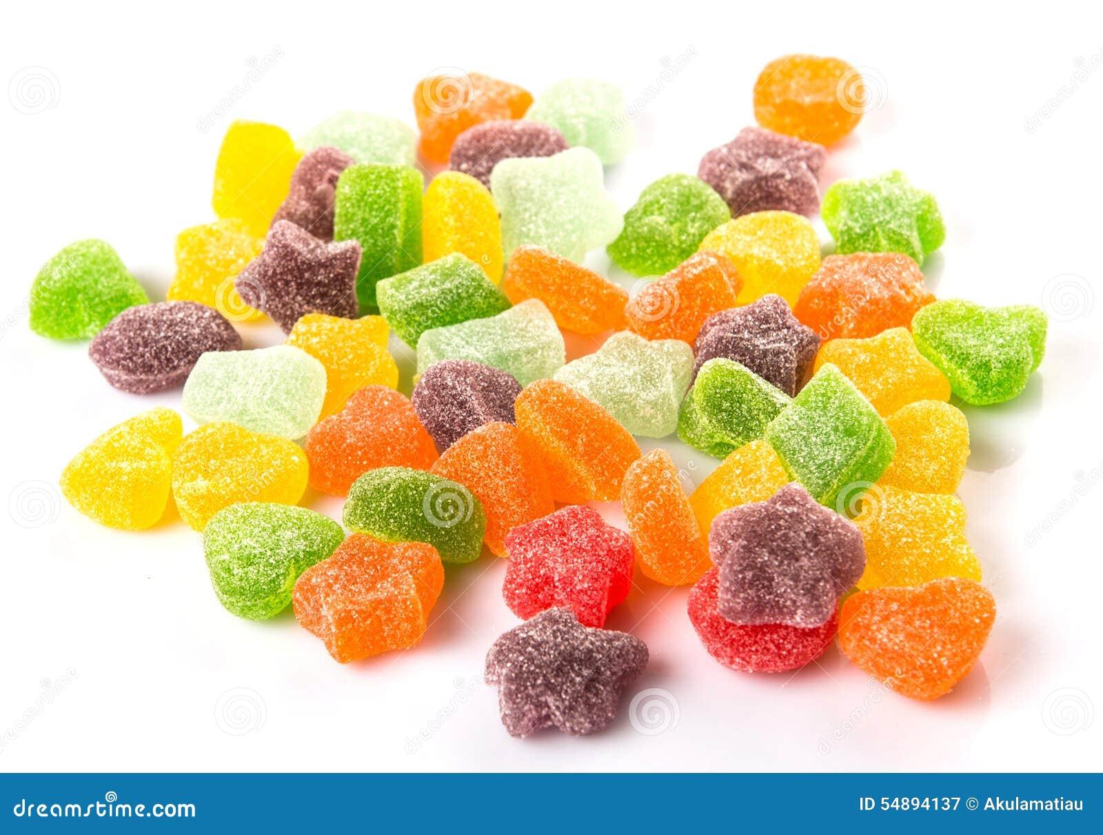 Stapel van Kleurrijk Sugar Jelly Candy VI