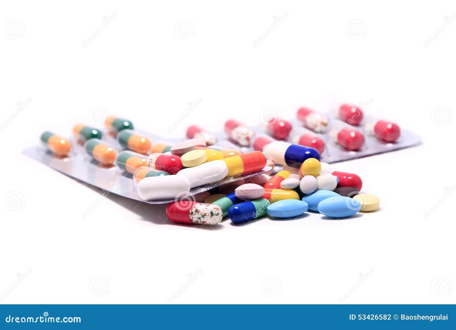 Stapel van Pillen en Capsules