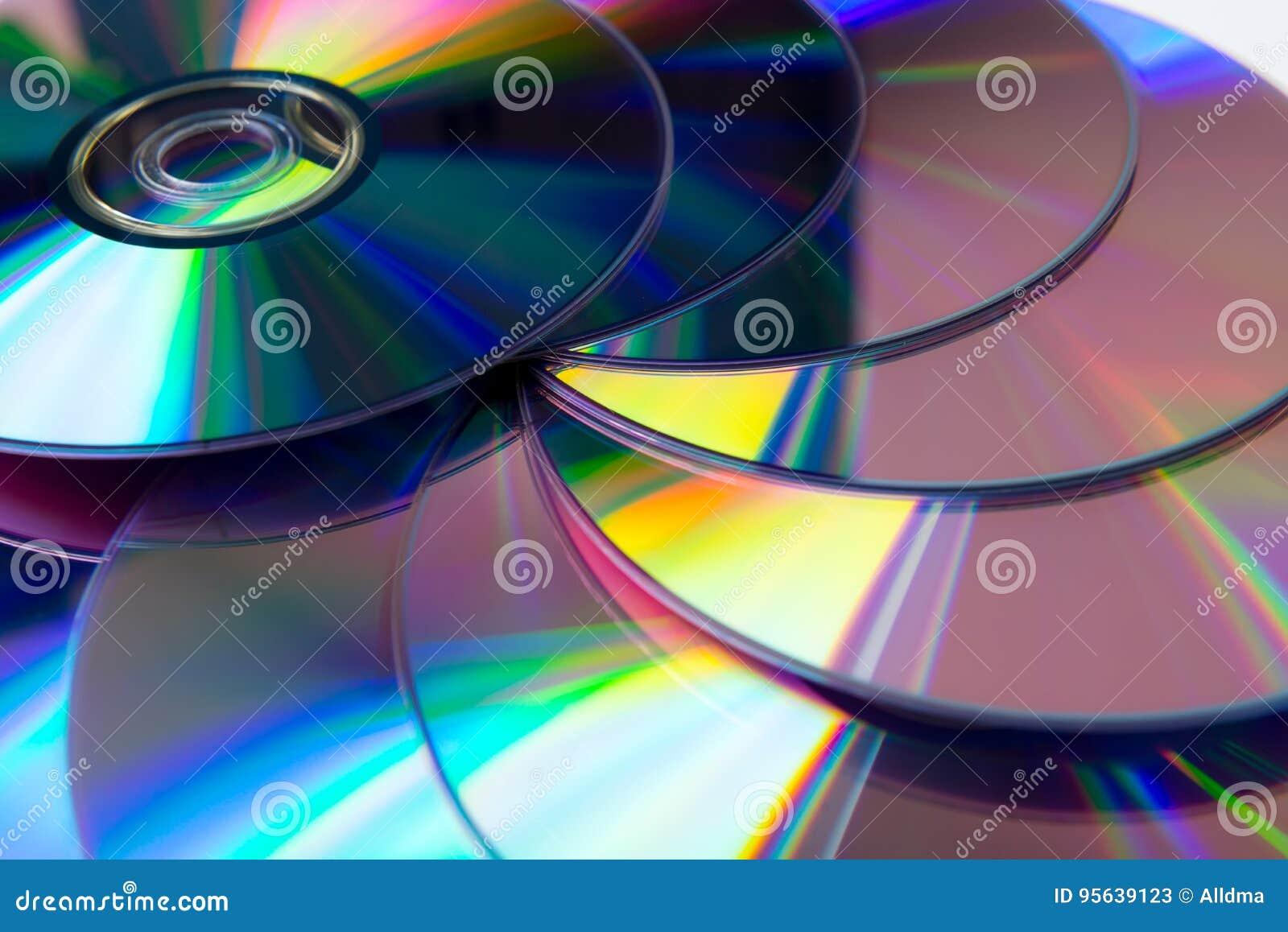 Stapel van purpere rewritable dvdinzameling