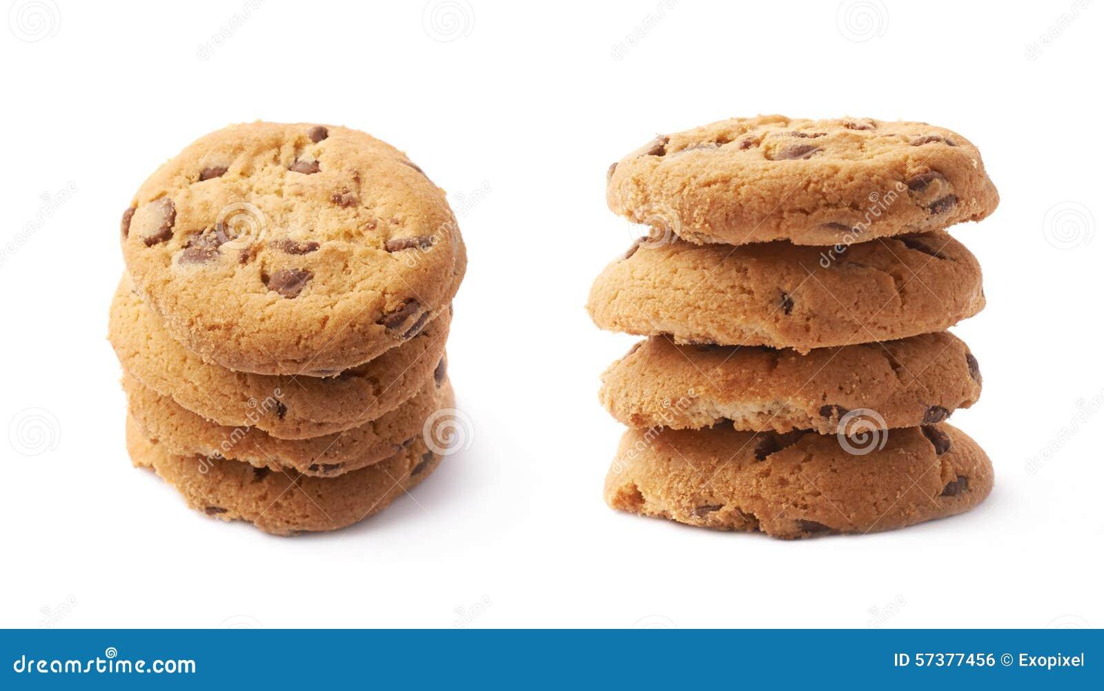 Stapel van ronde geïsoleerde koekjes