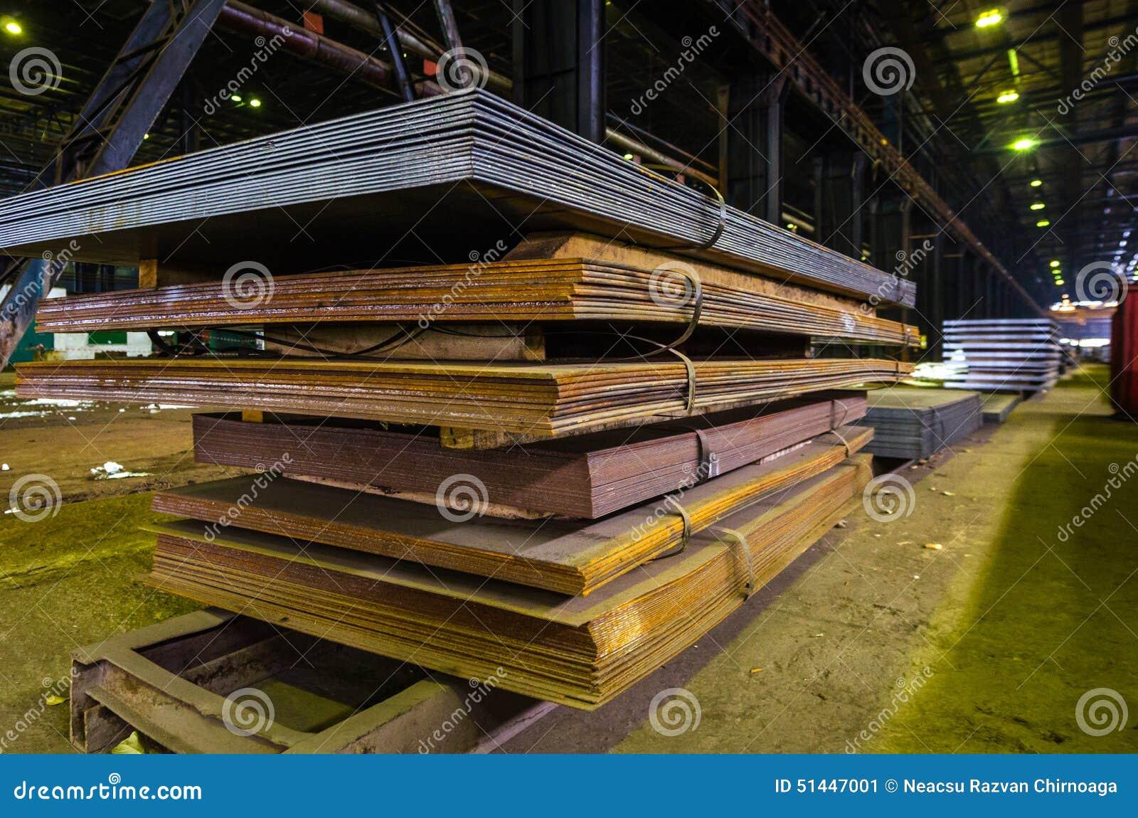 Stapel van staalplaat