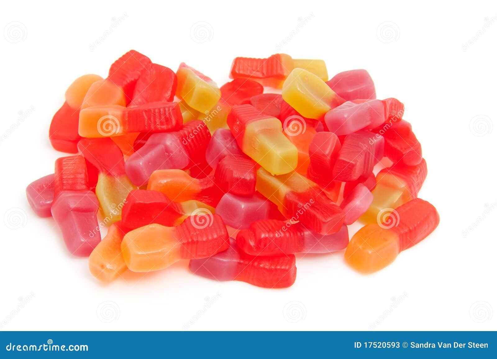 Stapel van zoet kleurrijk suikergoed