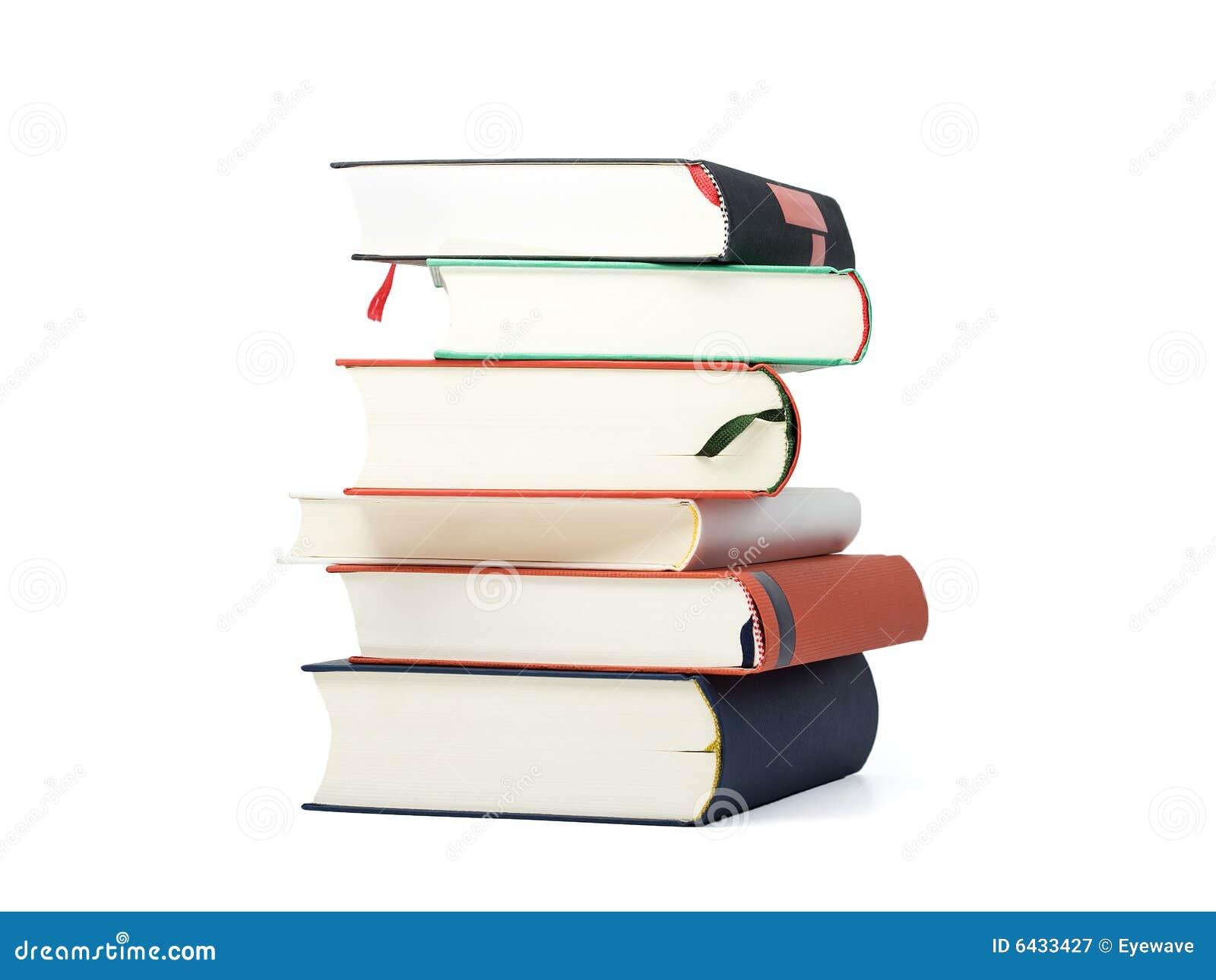 Stapel von sechs leeren Büchern