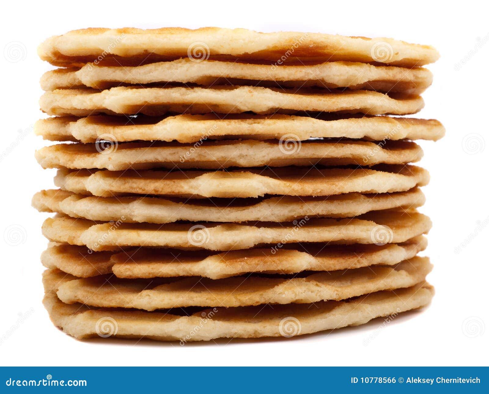 Stapel wafelkoekjes