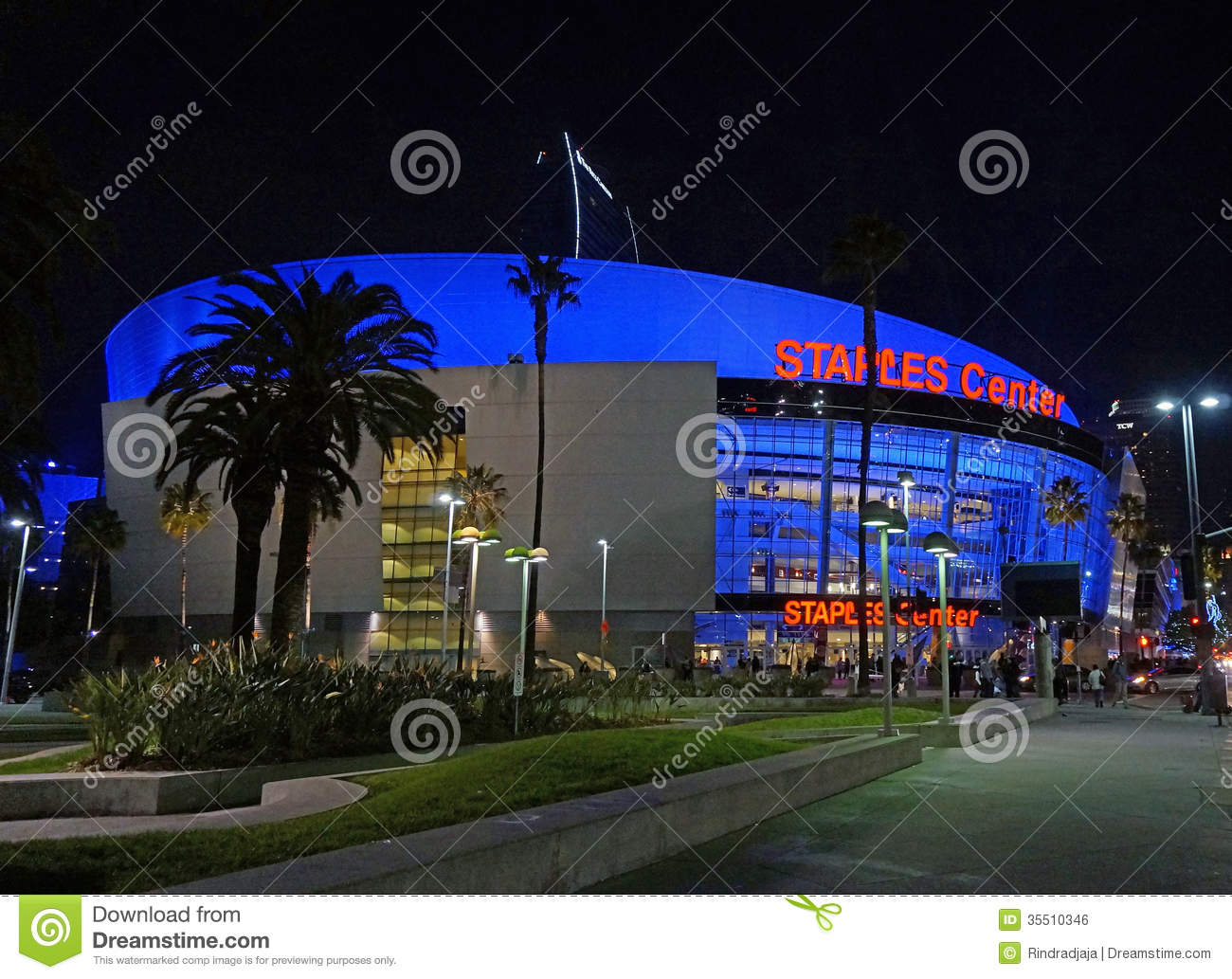 The Staples Center In Los Angeles, CA Editorial Photo ...