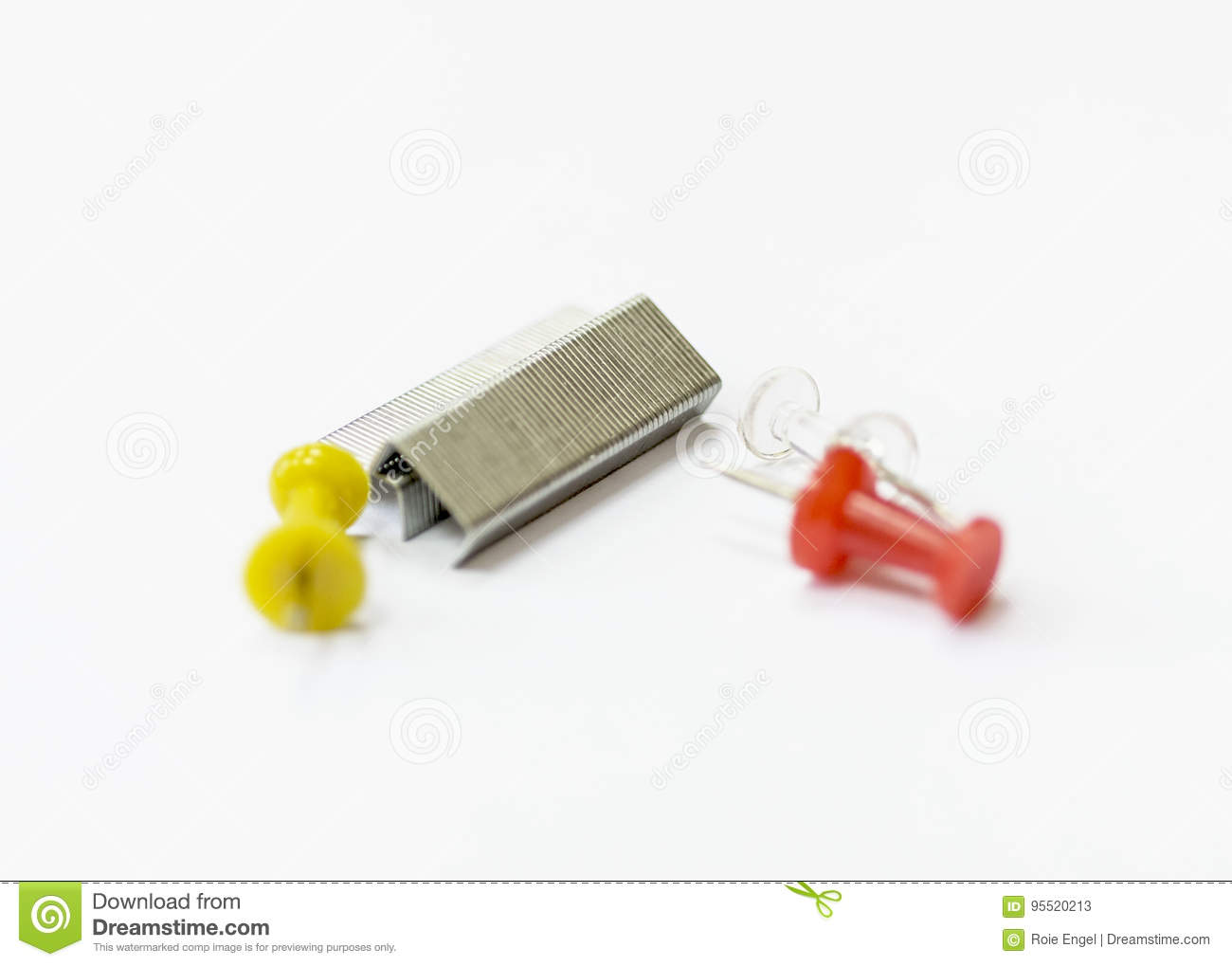 b166d54dce87 Staples and pushpins stock illustration. Illustration of staple ...