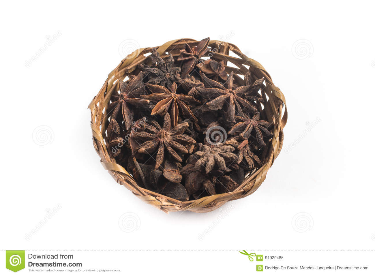 Star Anis into a Basket