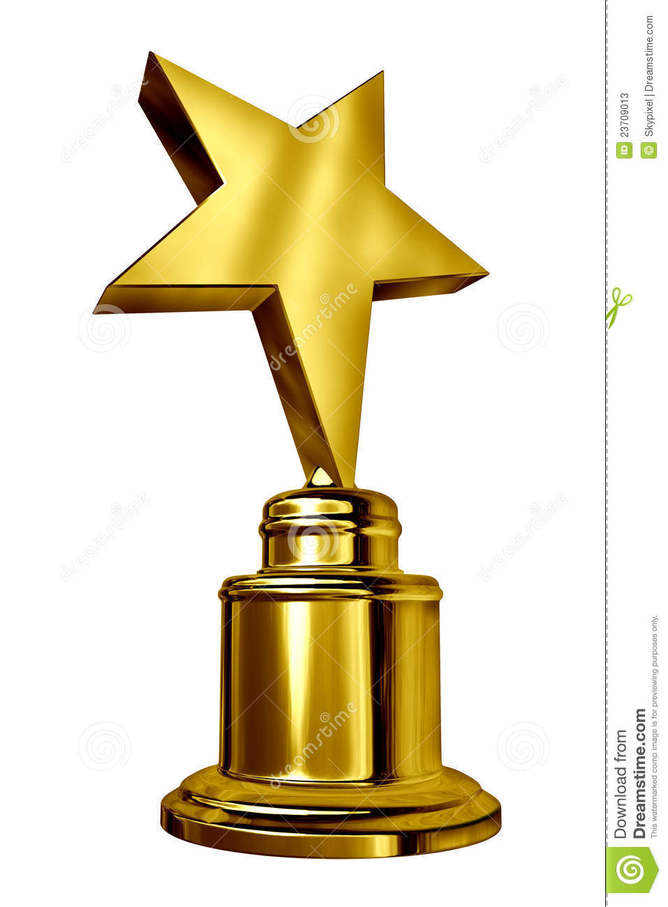 Gold Star Award Trophy