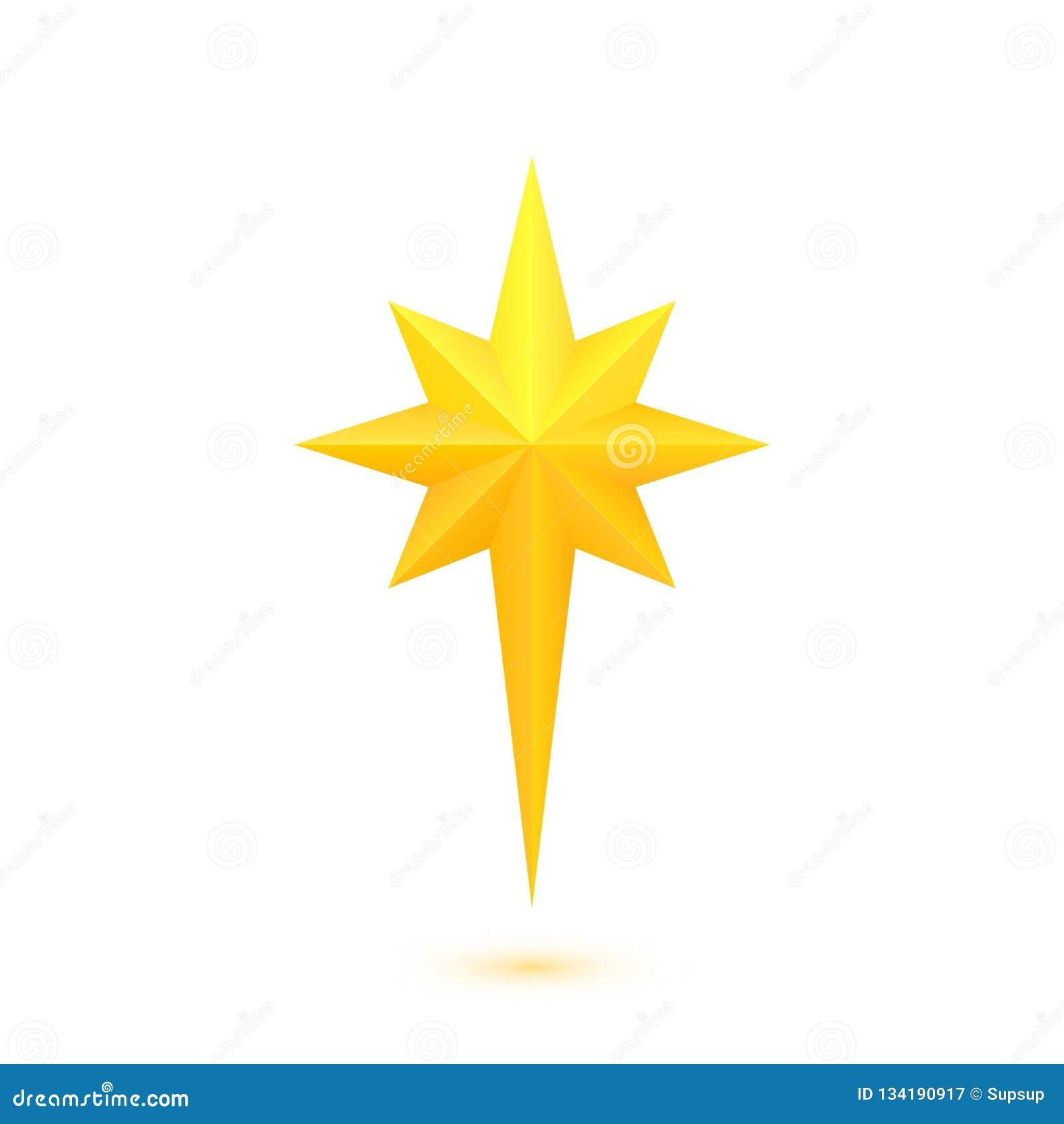 Christmas Star Images Clip Art.Bright Golden Christmas Star Stock Vector Illustration Of