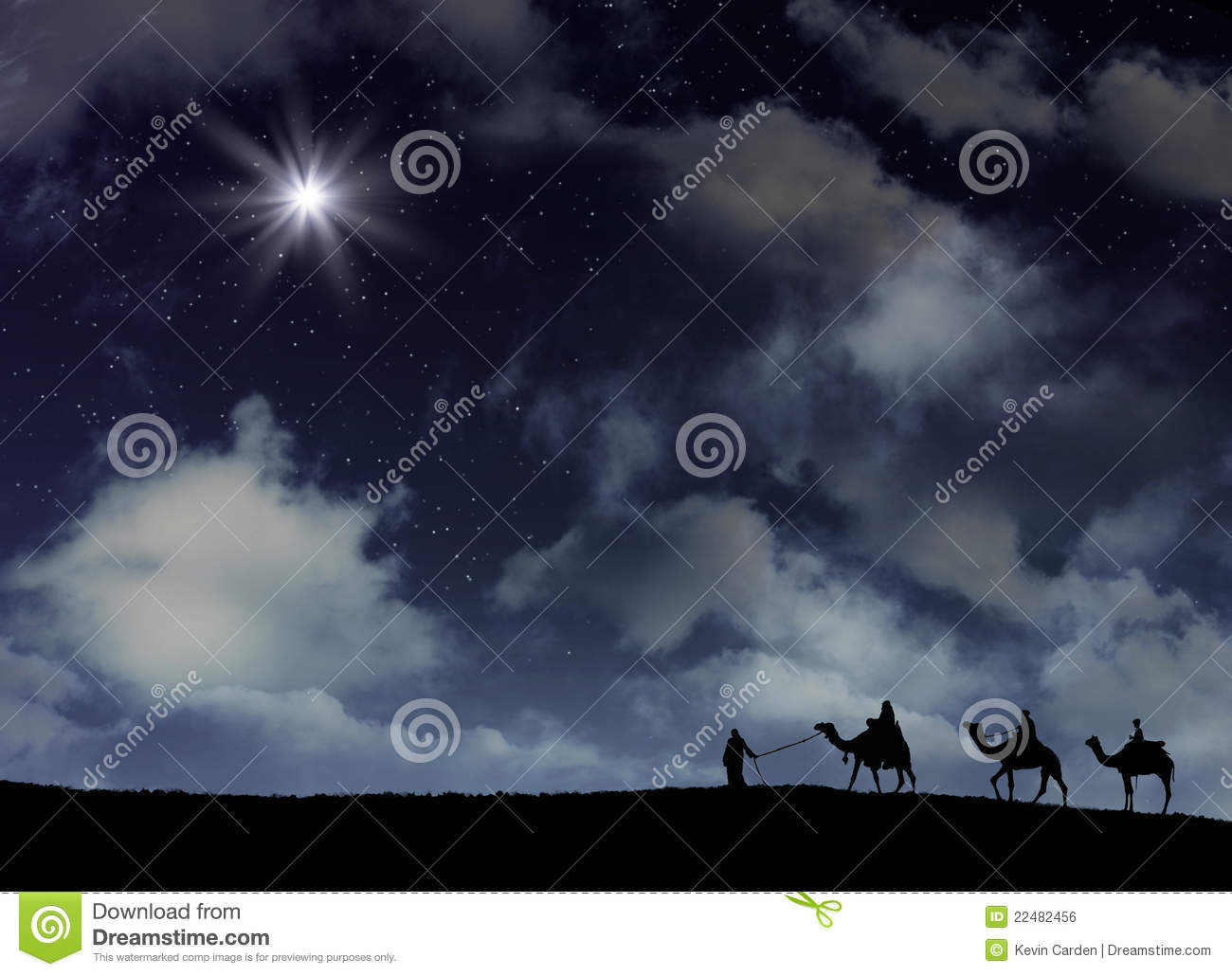 The Star Of Bethlehem On A Snowy Night Stock Photo Image Of Storm