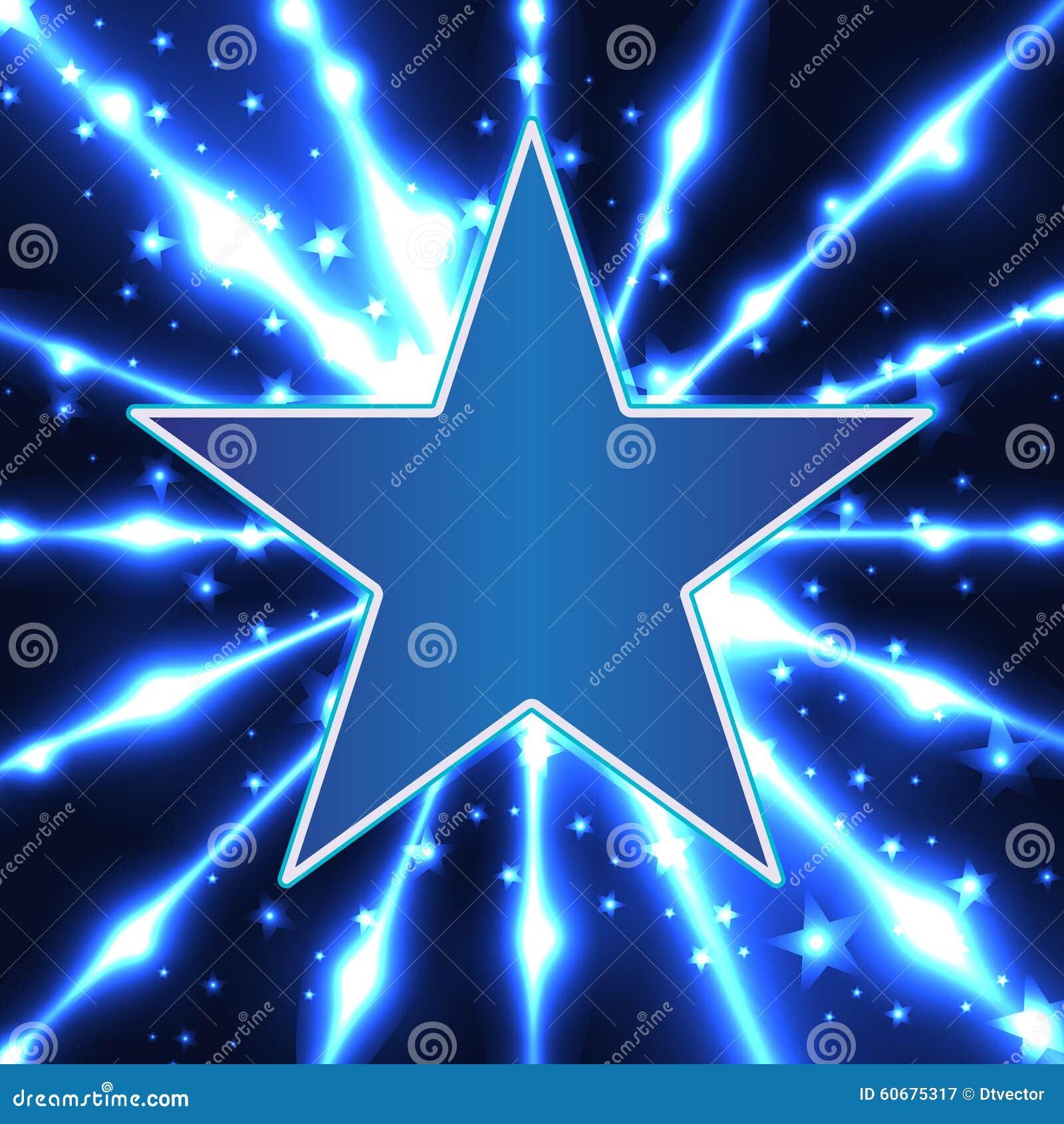 Star blue design template