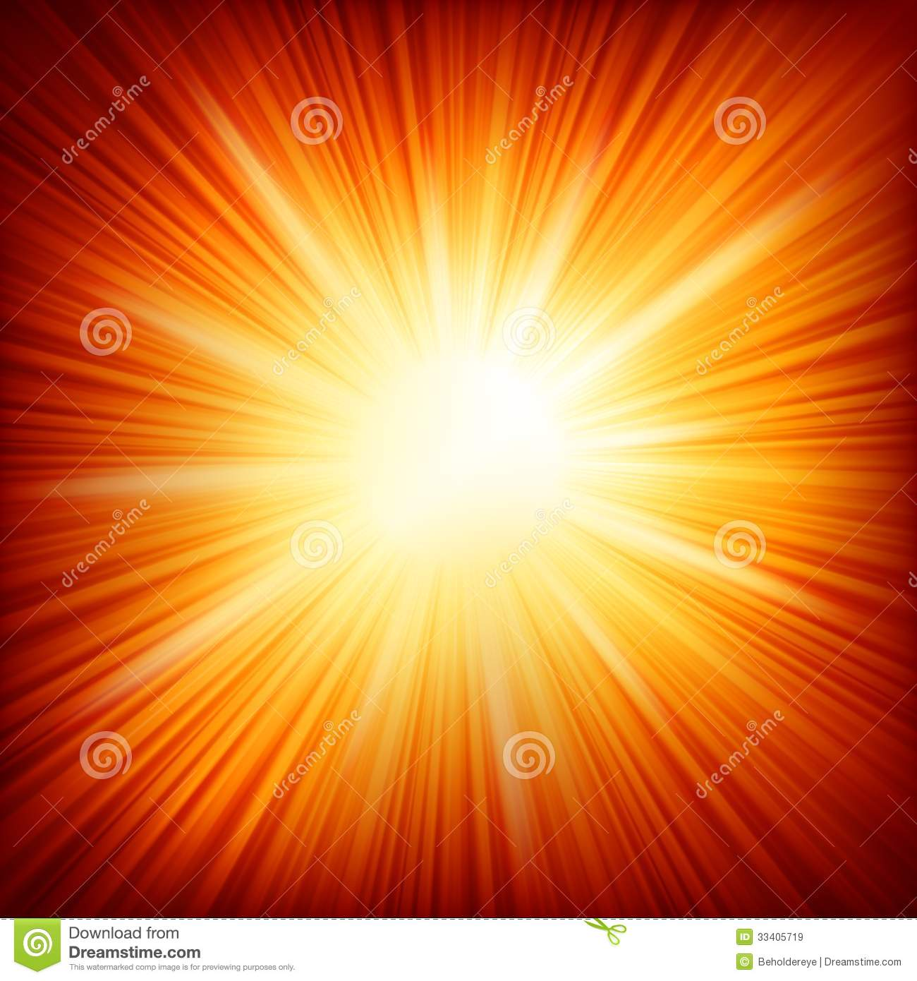 star burst red and yellow fire  eps 10 stock vector