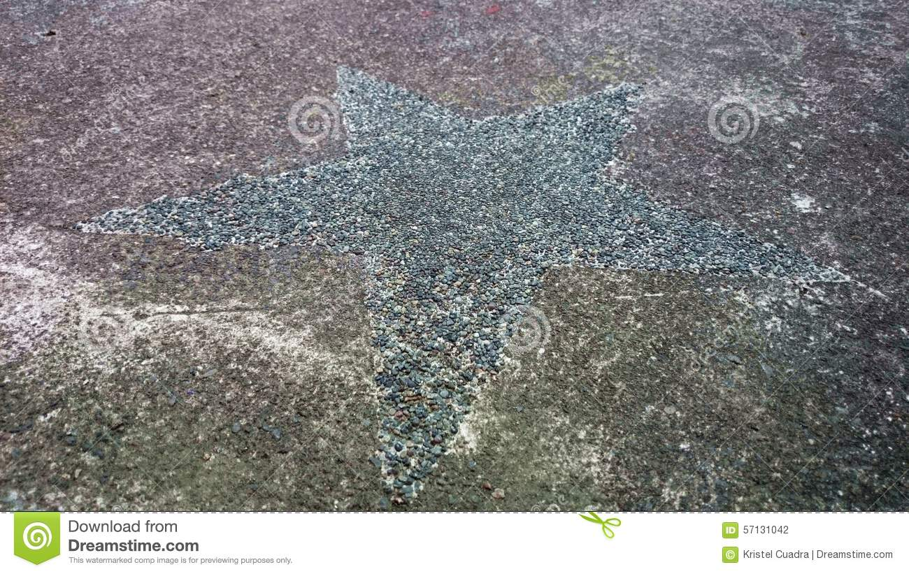 Star cement gray stock photo  Image of concrete, cement - 57131042