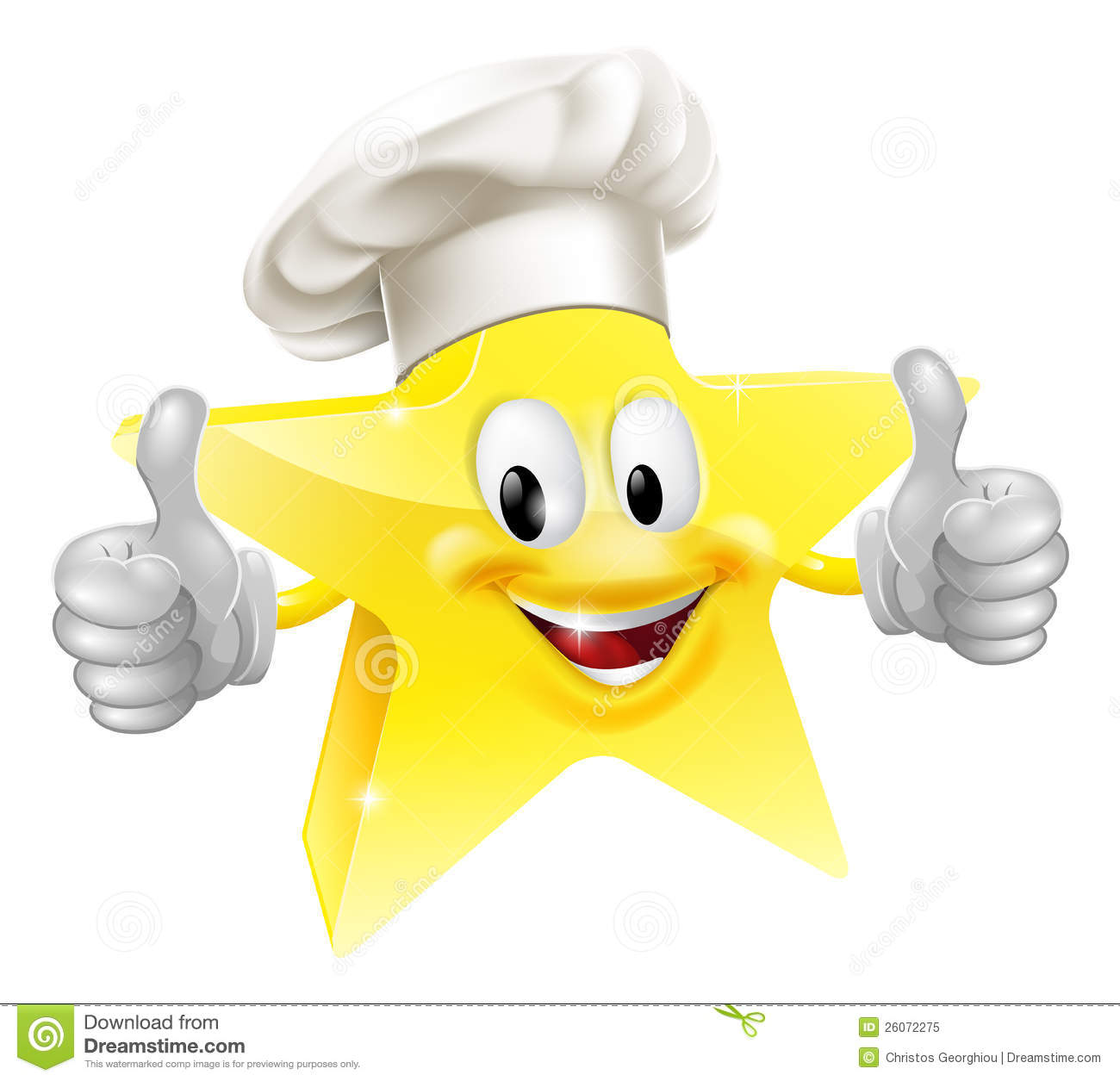 ... mascot in a chef or baker's hat, concept for best chef or similar