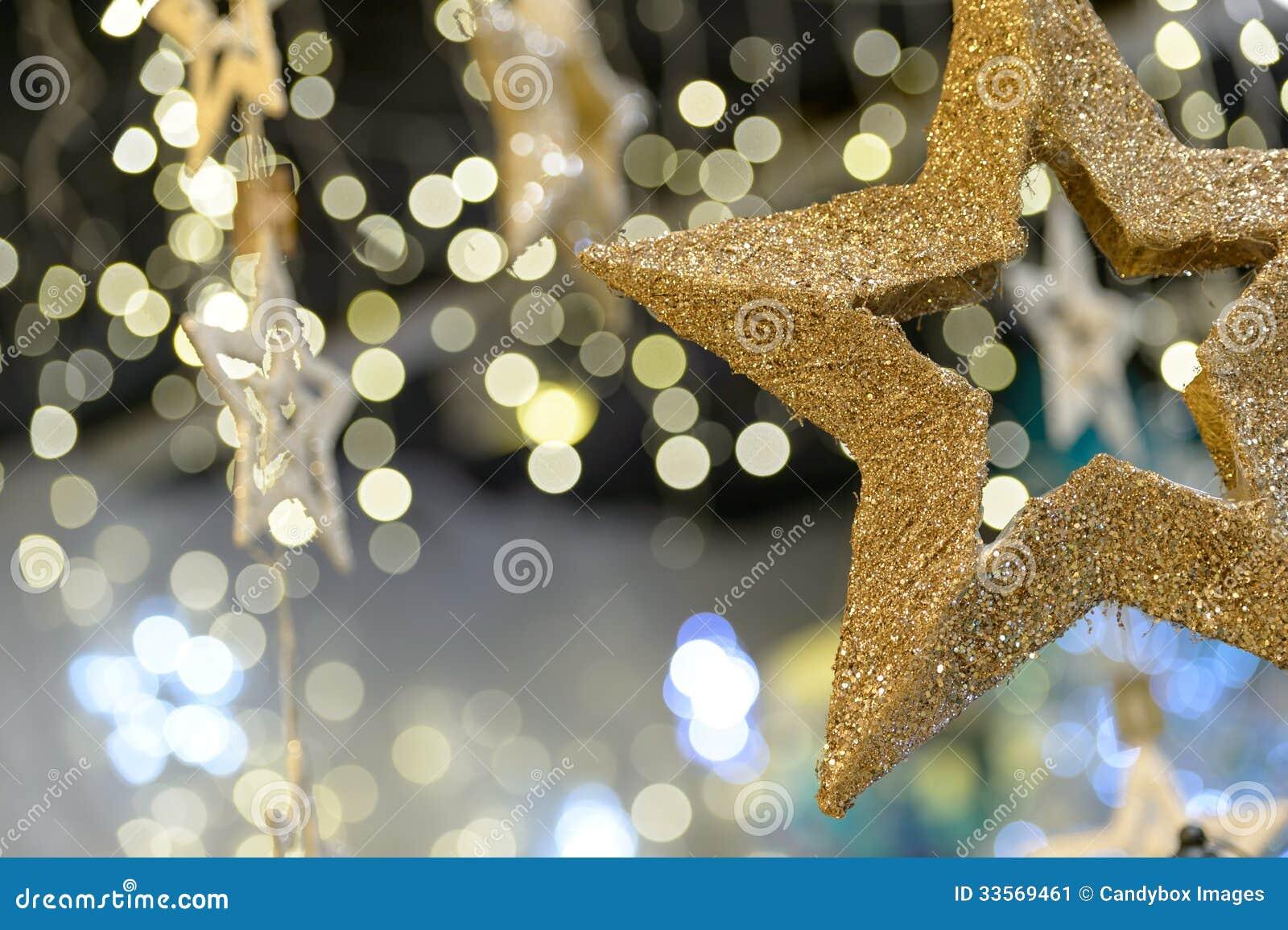 Gold star ornaments - Star Christmas Ornament