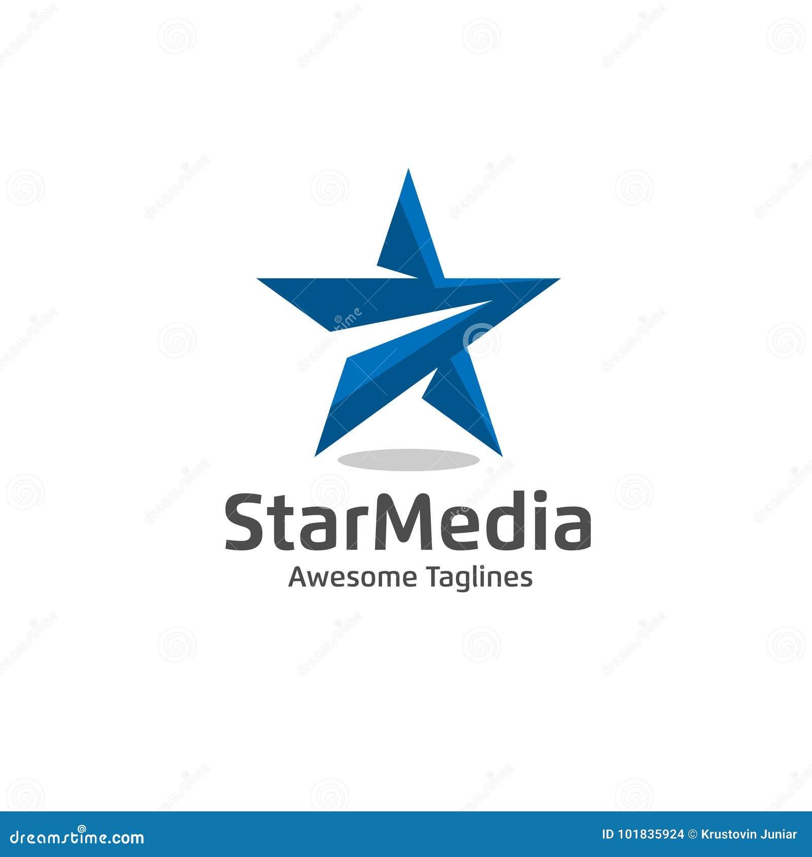 Star Color Vector Logo Stock Vector Illustration Of Media 101835924