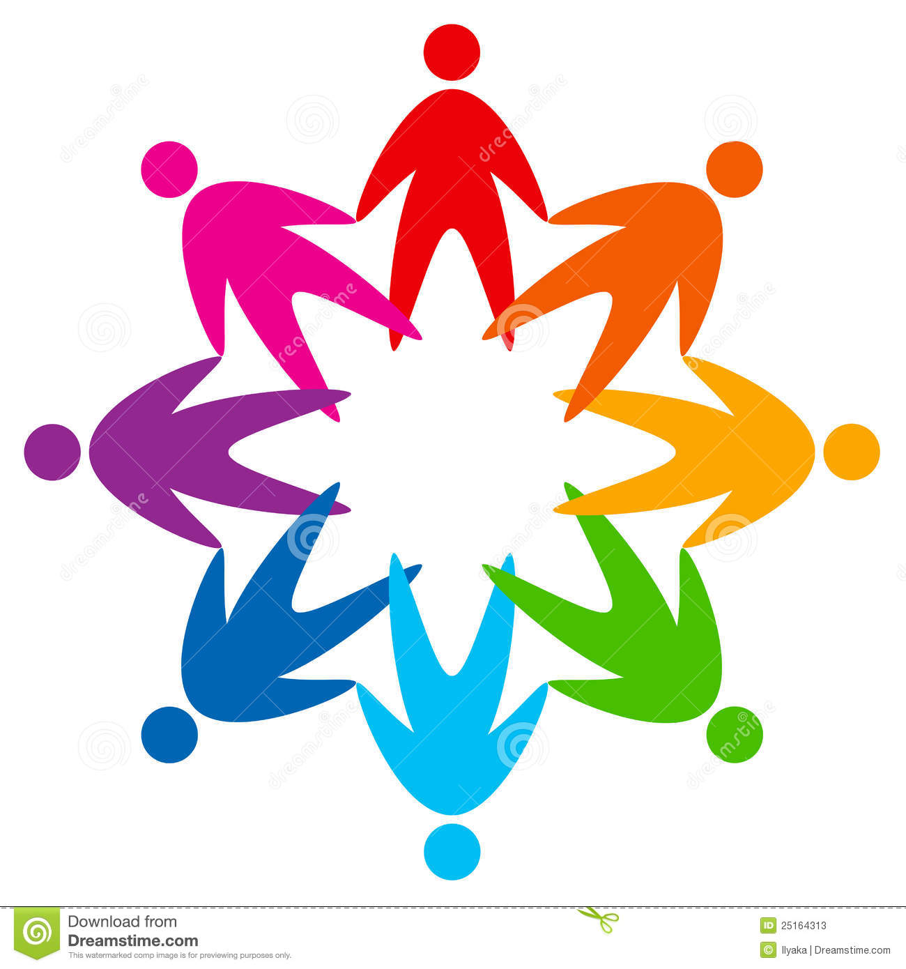 Star Of Colorful People Pictogram Stock Photos Image
