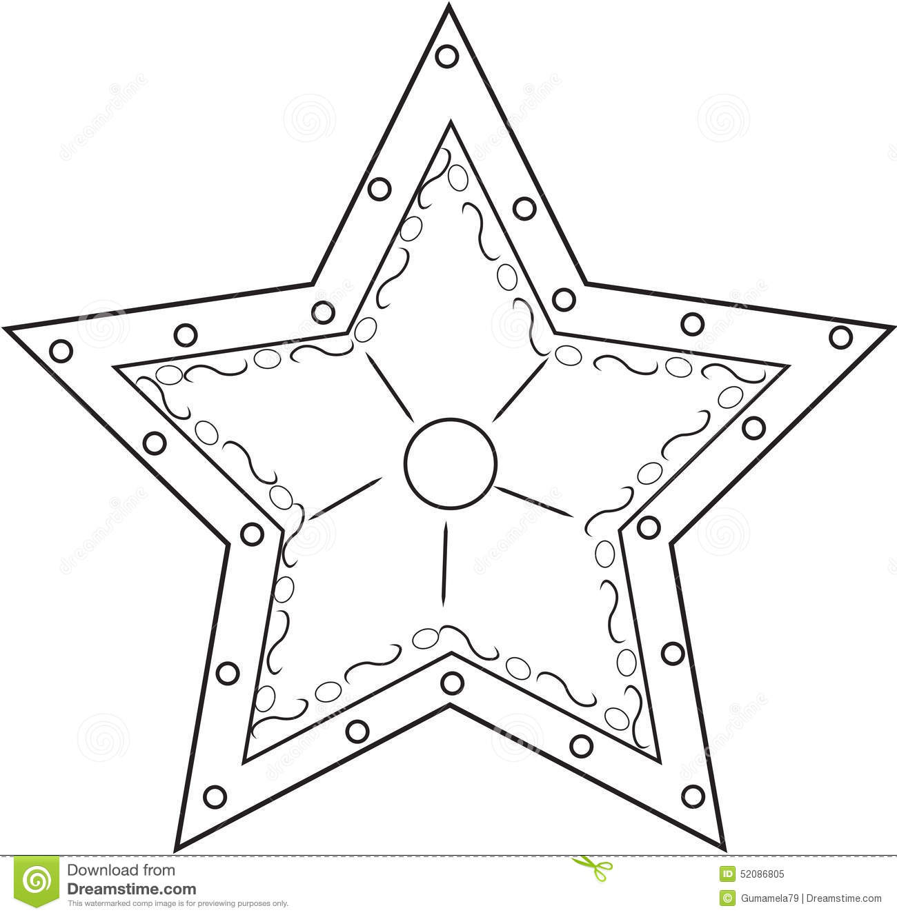 star coloring page stock illustration image 52086805